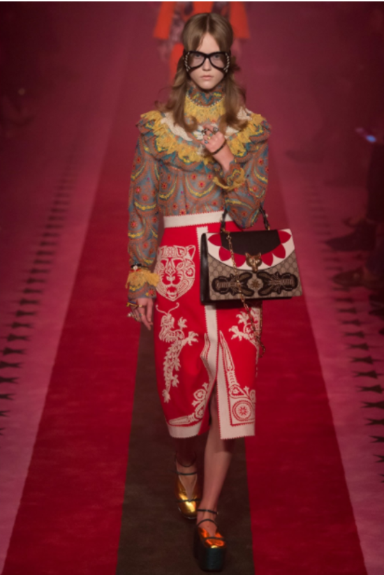 From Gucci's SS 2017 Collection    Photo credits: Vogue