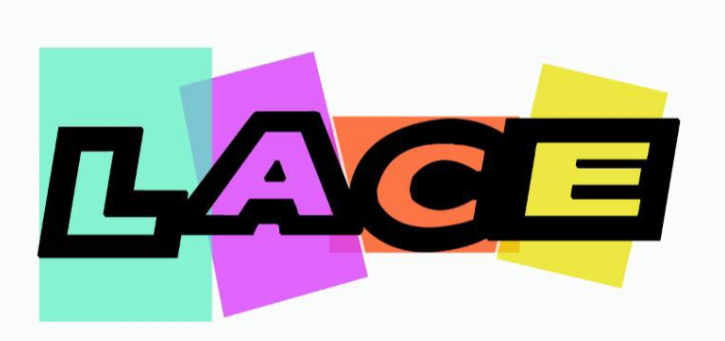 The First Logo - This is the first design for LACE's logo.We knew the importance of color was necessary in communicating that this was a welcoming environment. After sorting through and compiling exactly 20 color schemes (none of which we have to show you after a fitful night of frustrated deleting and digital creator's block)we chose colors and variations of such that we had not seen and whose color scheme reflected the warmness and cutting edge nature of our project.