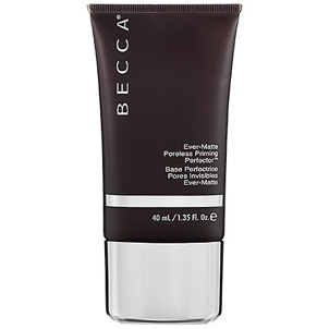 """1. Becca Ever-Matte Poreless Priming Perfector - If you're a newbie to makeup, you're probably wondering, """"what the #%$ is a primer?"""" A primer is used after moisturizing your face, but before you put your foundation on. It helps to create a layer between pore-clogging makeup and your precious skin.This face primer by Becca retails for $36 at Sephora. I recommend this specific primer for those who have oily or combination skin types. The primer has a tacky and matte finish which helps to eliminate oil, especially when used on the T-zone."""