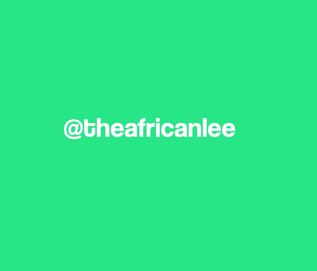 Emmanuel Massalee - @THEAFRICANLEE