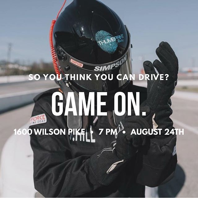YOU WON'T WANT TO MISS OUT!! Tomorrow we will be hearing the why behind the vision for #Thumbprint!! You won't want to miss this party and your chance to test your skills on a NASCAR simulator! See you all there!!