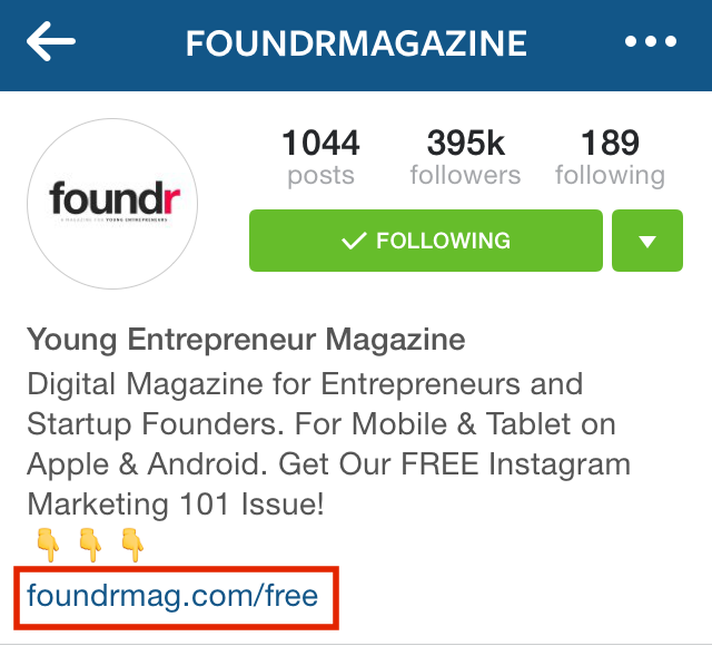 Keep the link simple and start them off at an Instagram specific welcome or landing page.