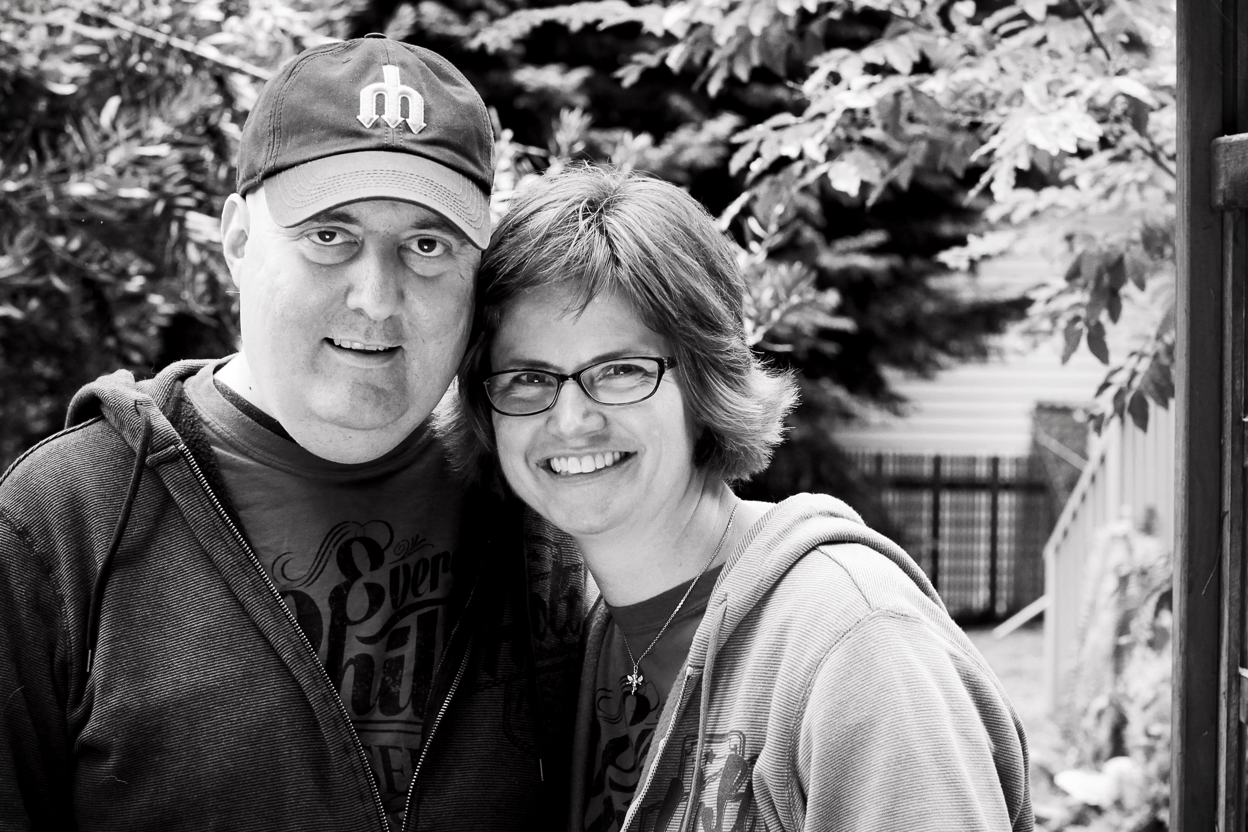 Me, with my husband shortly before he went on hospice. (Photo courtesy Rebecca ort photography)
