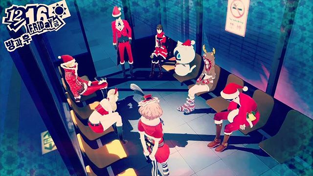 Merry Christmas from our Odd Force to your Odd lives.  All we want for Christmas is to be Phantom Thieves.  #Persona5 #Christmas #Atlus #PhantomThieves #Merry #HoHoHo #Playstation #Xbox #OddForceFour #OddlySelected