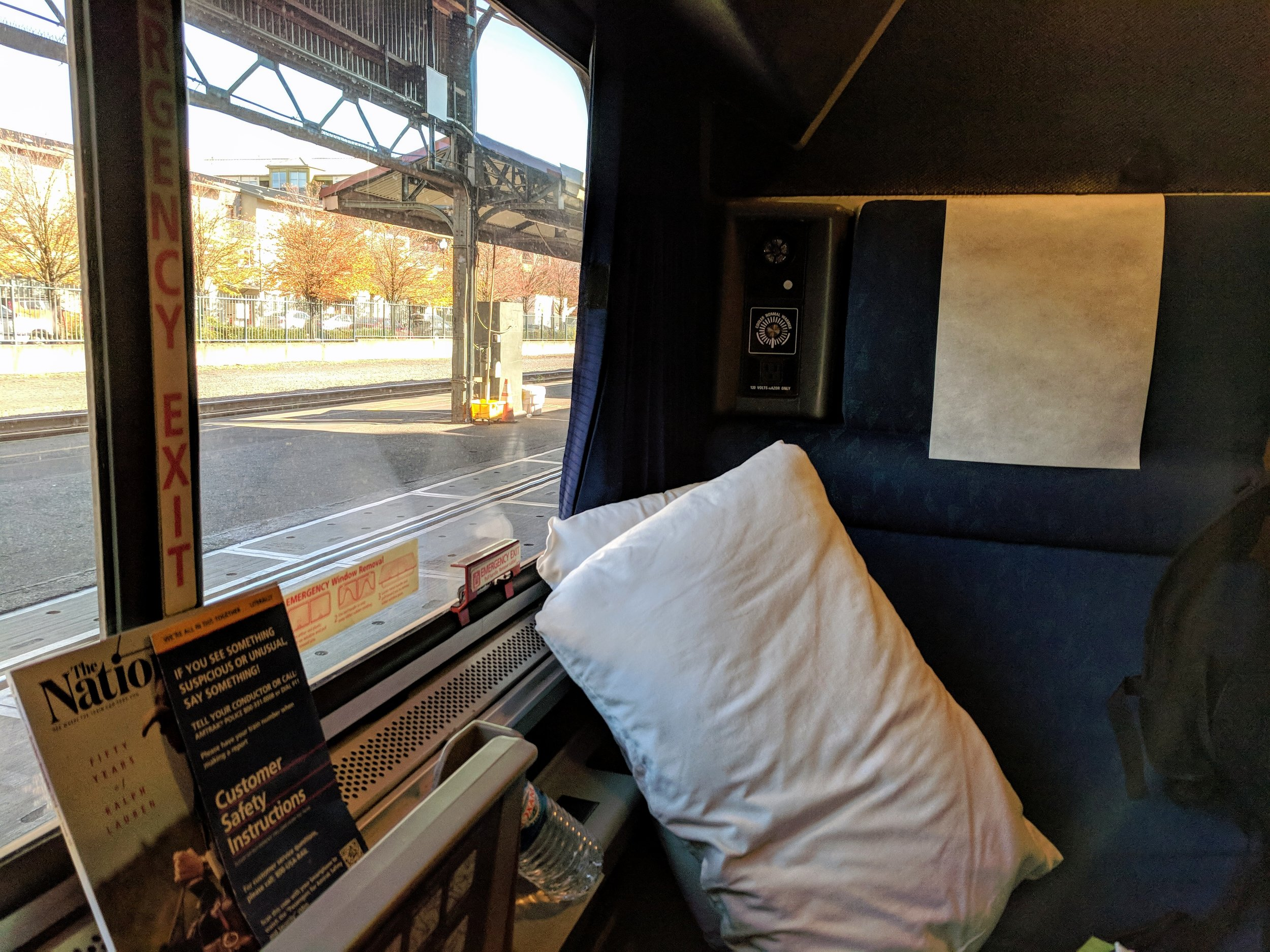 My roomette on the Coast Starlight.