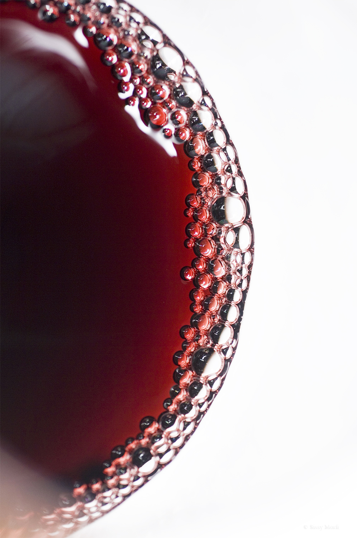 Wine tasting-the red wine