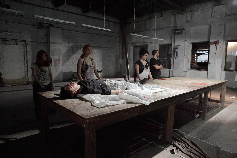 """Skin""/ Vyrsodepseio theatre 2013 / by OΔC Ensemble team / site specific performance /  Metropolis No 1029"