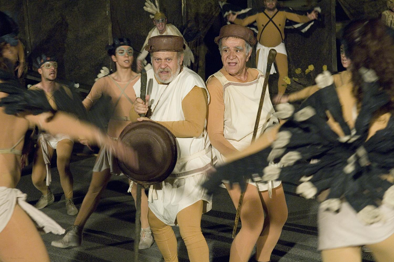 """Birds"" / Herodes Atticus Odeon, 2008 / by Aristophanes / idea of the direction Karolos Koun / costumes Yiannis Tsarouchis / BHMagazino No 404"