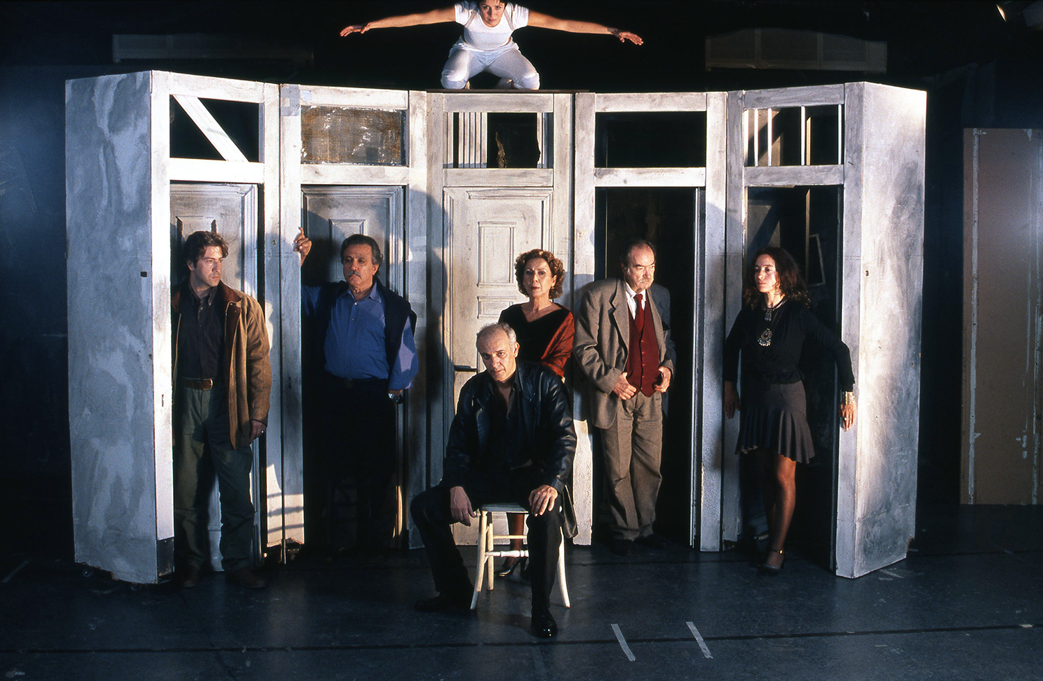 """""""The Master Builder"""" / Modern Theater of Athens Giorgos Kimoulis, 2005 / by henrik Ibsen / directed by Lefteris Giovanoudis / MEN No 134"""