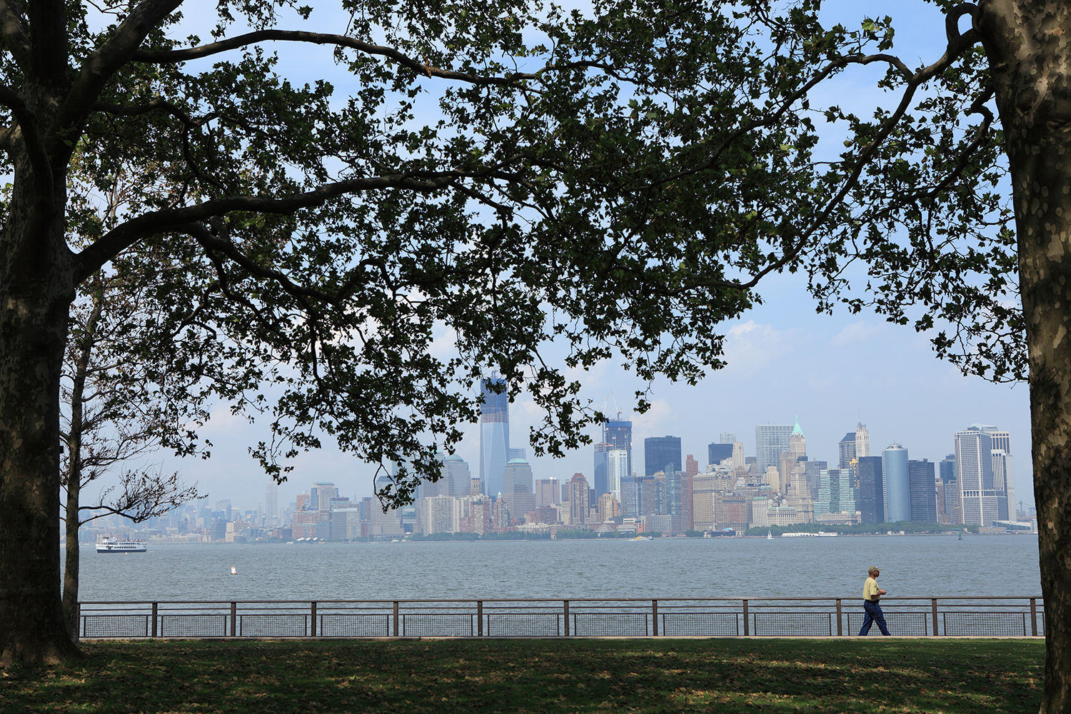 U.S.A. / New York / View of Manhattan from Liberty Island