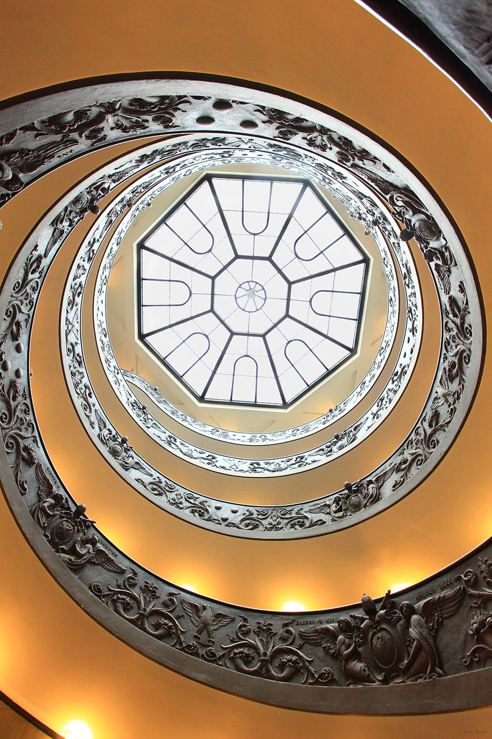 Italy / Vatican-Rome / Vatican museum / Spiral staircase by Giuseppe Momo