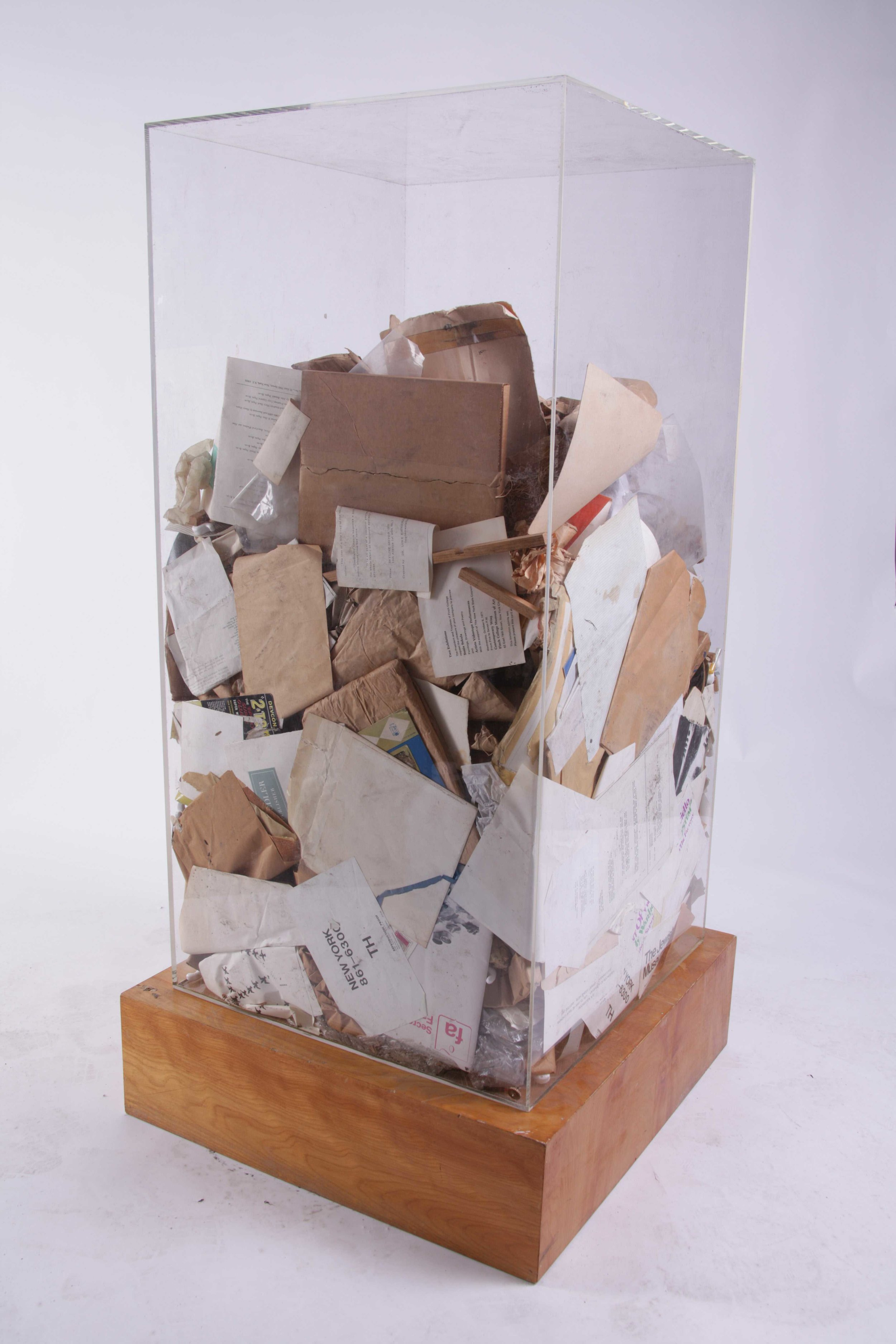 Arman. Sol Lewitt's Refuse (1970) This work is recorded in the Arman Studio Archives New York under number: APA# 8017.70.00. Courtesy: Leila Heller Gallery