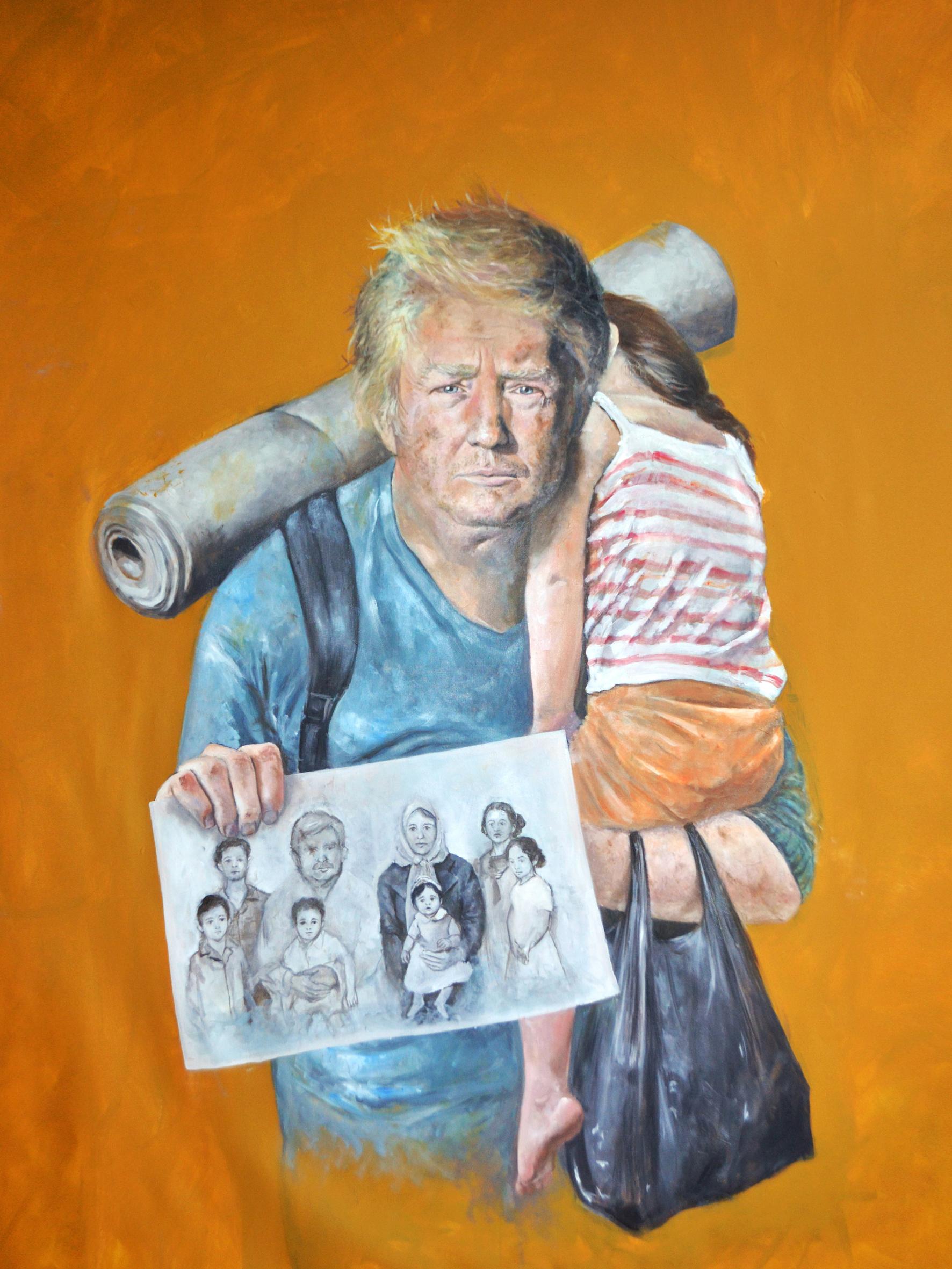 Abdalla Al Omari. Donald, 2016. Courtesy of Ayyam Gallery
