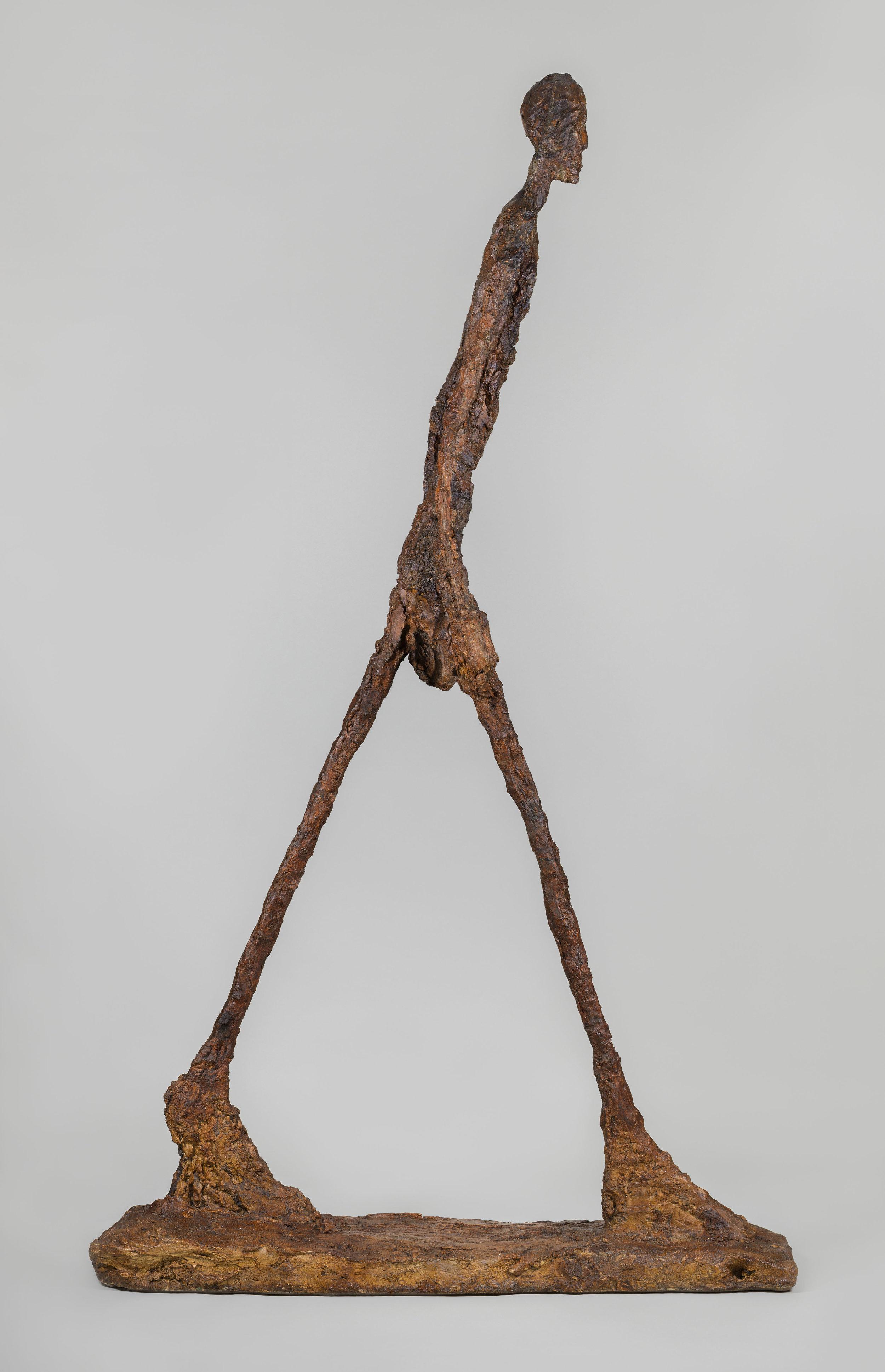 Alberto Giacometti. Walking Man II (1960) Fondation Giacometti, Paris. Courtesy: Alberto Giacometti © Giacometti Estate (Fondation Giacometti + ADAGP)