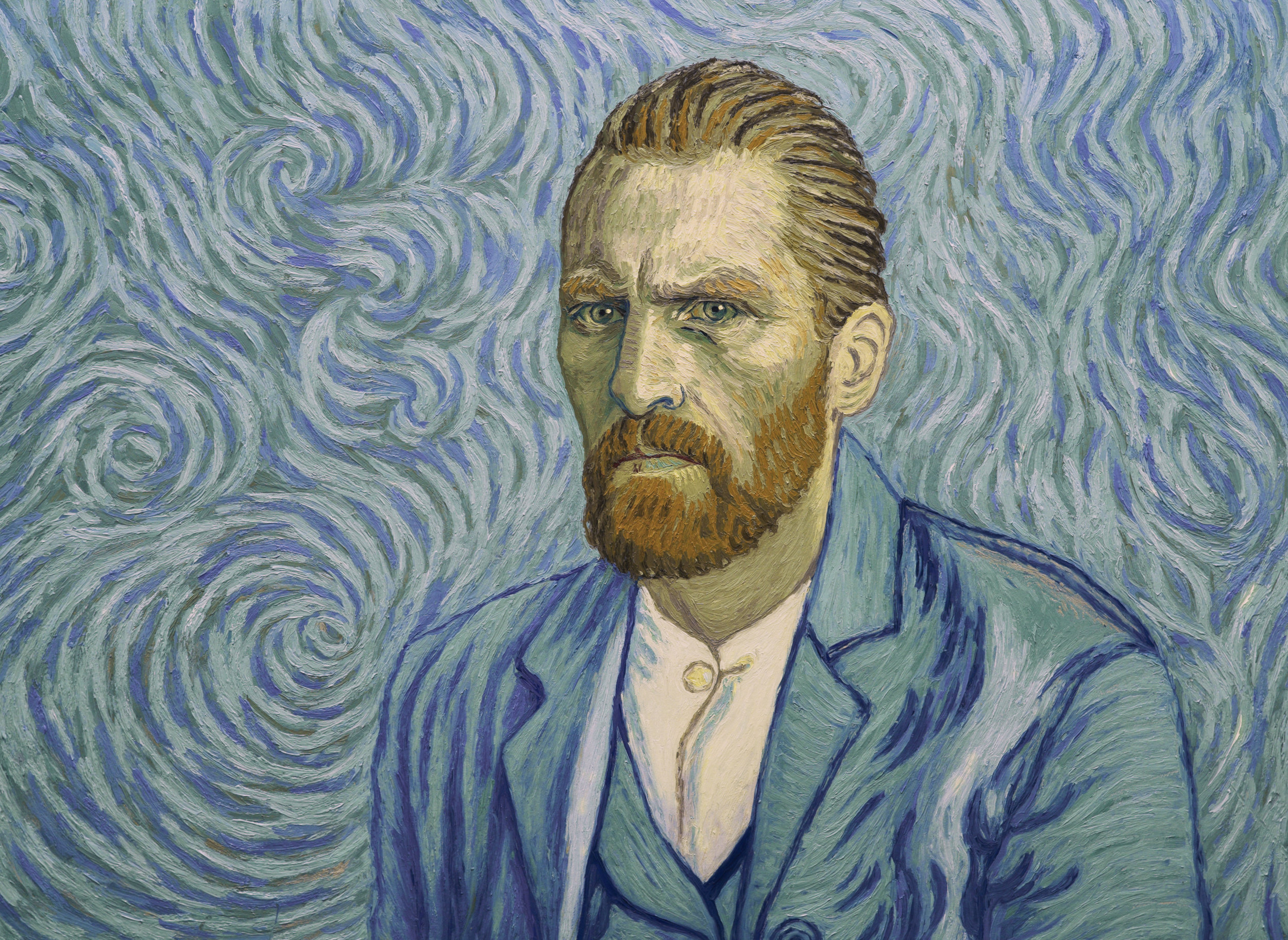 Vincent Van Gogh, painted by Robert Glyaczk. Courtesy of Loving Vincent.