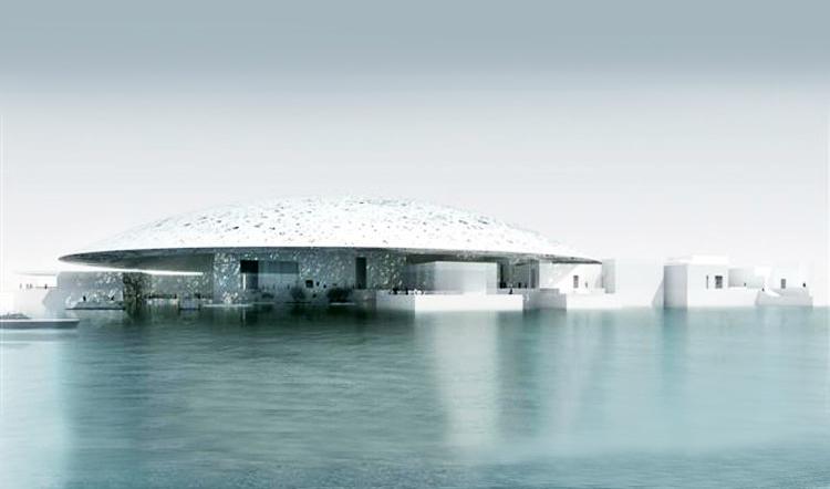 The Louvre Abu Dhabi will open on Saadiyat Island on November 11, 2017. Image courtesy Louvre Abu Dhabi