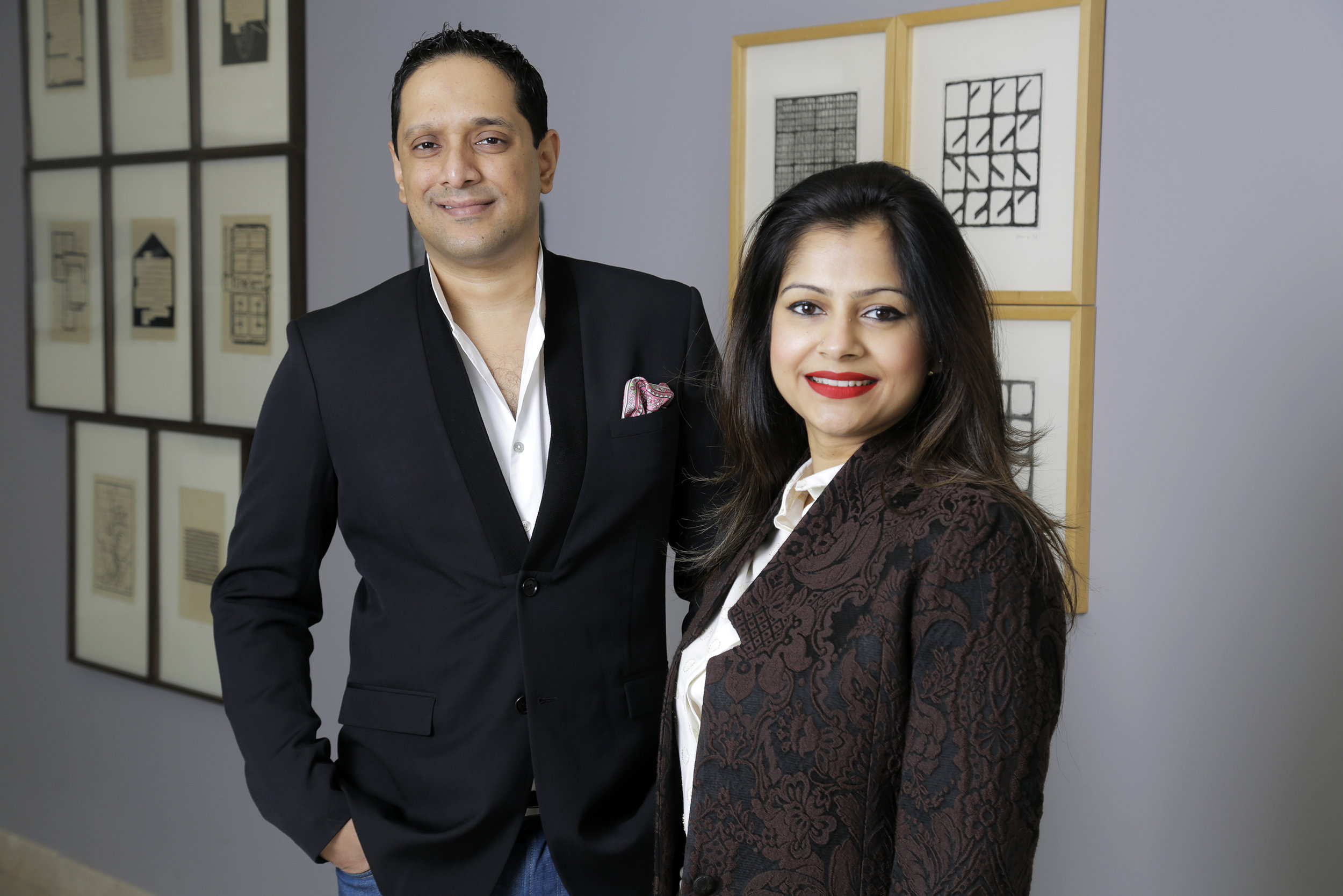 Rajeeb and Nadia Samdani, the recipients of the 2017 Montblanc de la Culture Arts Patronage Award. Courtesy of the Samdanis
