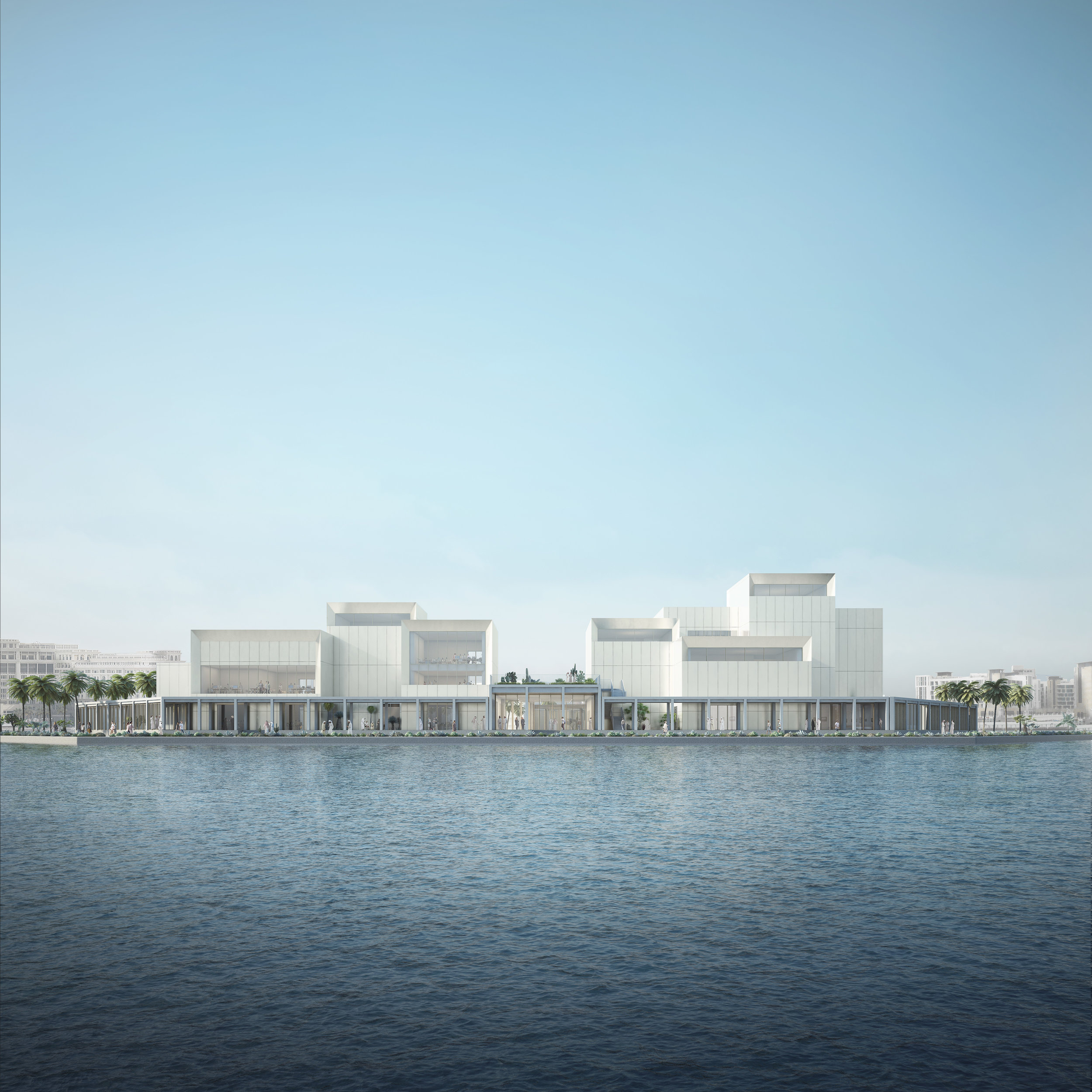 Jameel Arts Centre, northside view, from the Creek, Courtesy of Serie Architects.jpg