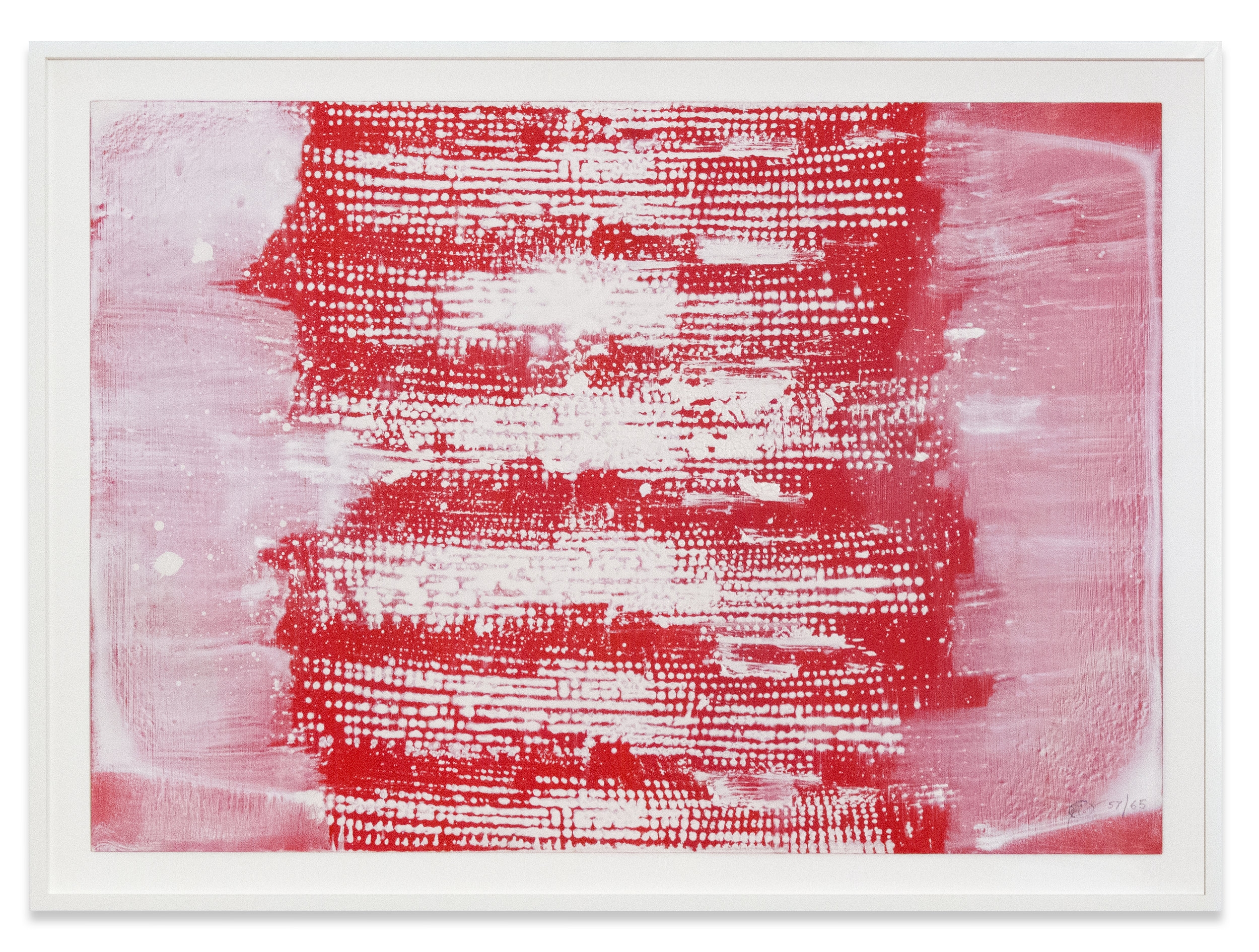 Otto Piene. Untitled, 1957/1965. Oil on paper mounted on board. 72 x 101.6 cm. 84 x 112 cm (framed). Courtesy of Sprüth Magers.