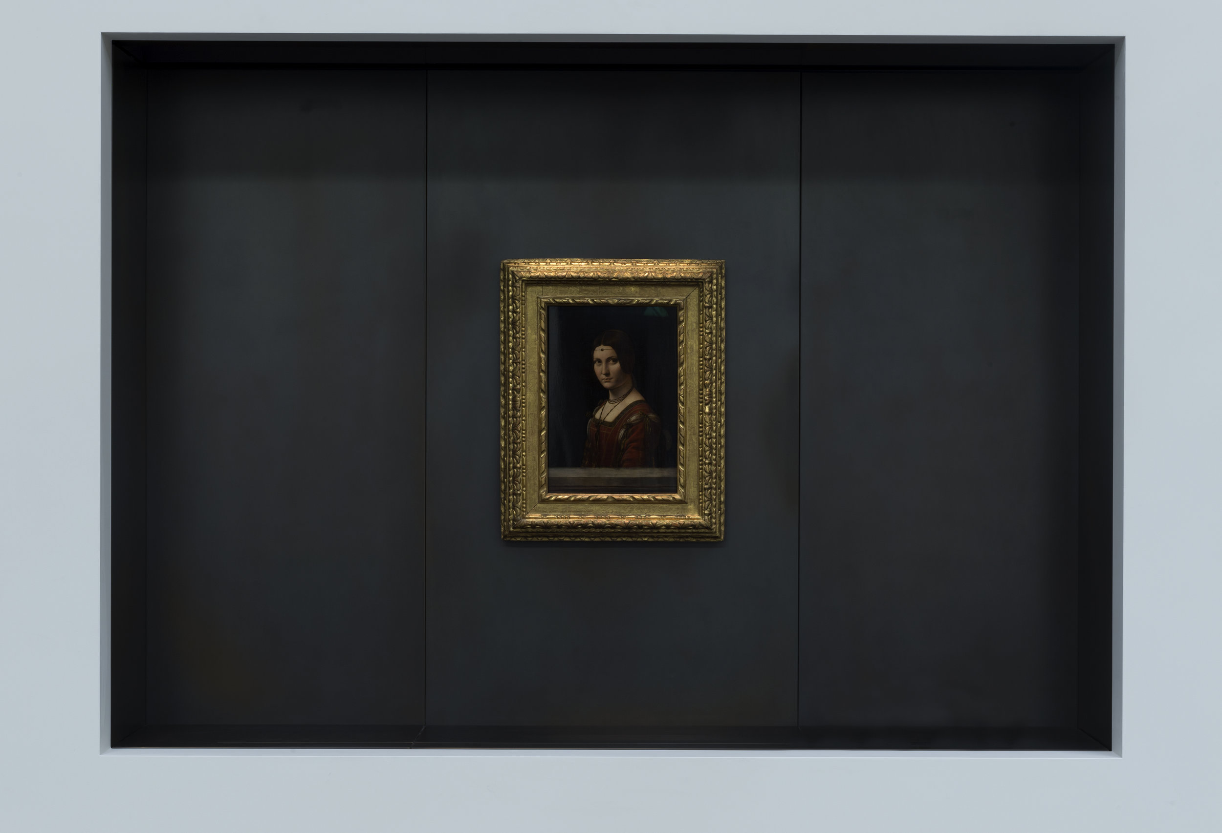 Leonardo da Vinci. La Belle Ferroniere, a loan from the Musée du Louvre, Paris © Louvre Abu Dhabi