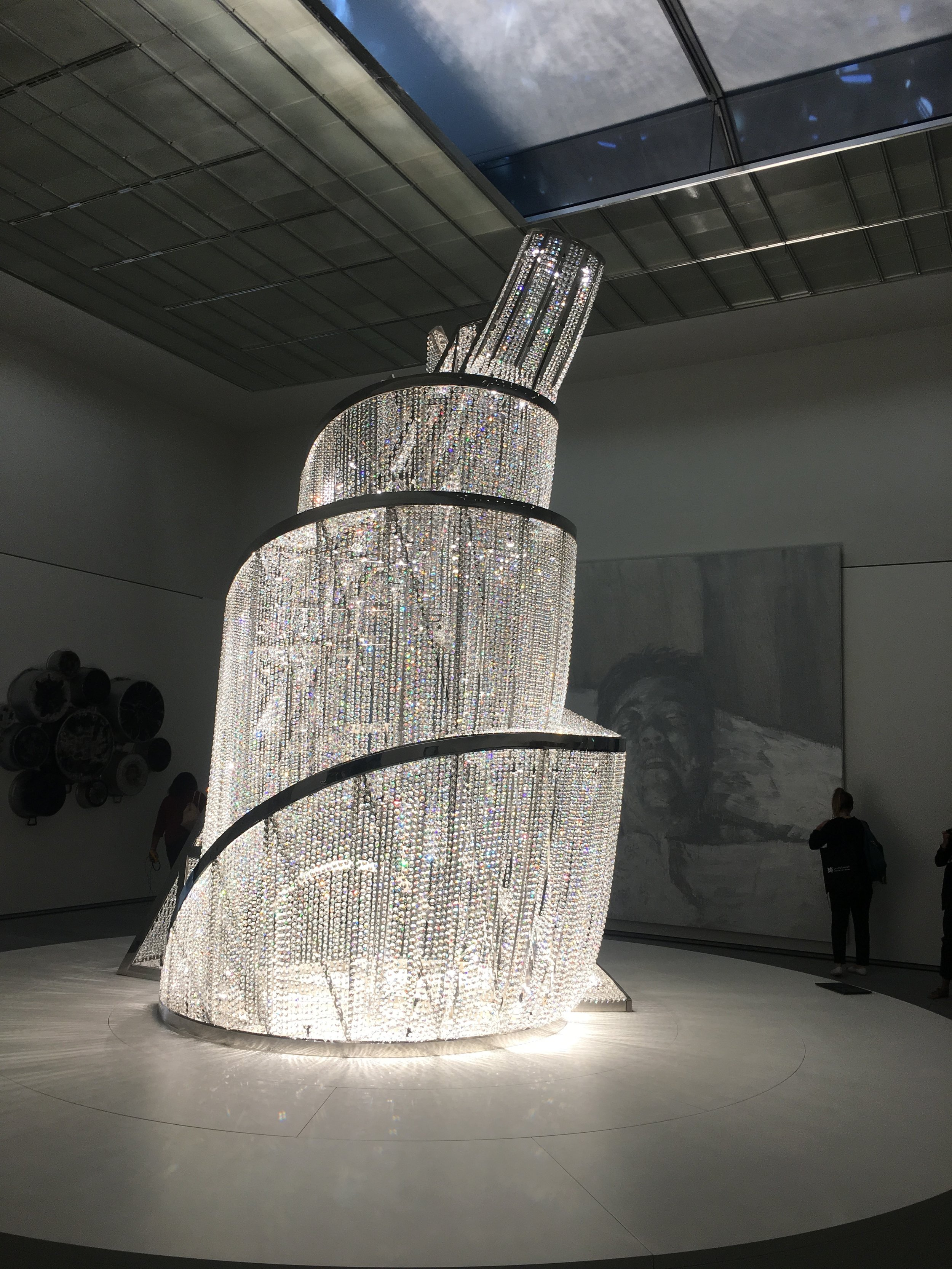 Ai WeiWei. The Fountain of Light (2007) at the centre of the final gallery hall inside the Louvre Abu Dhabi. Image taken by Anna Seaman