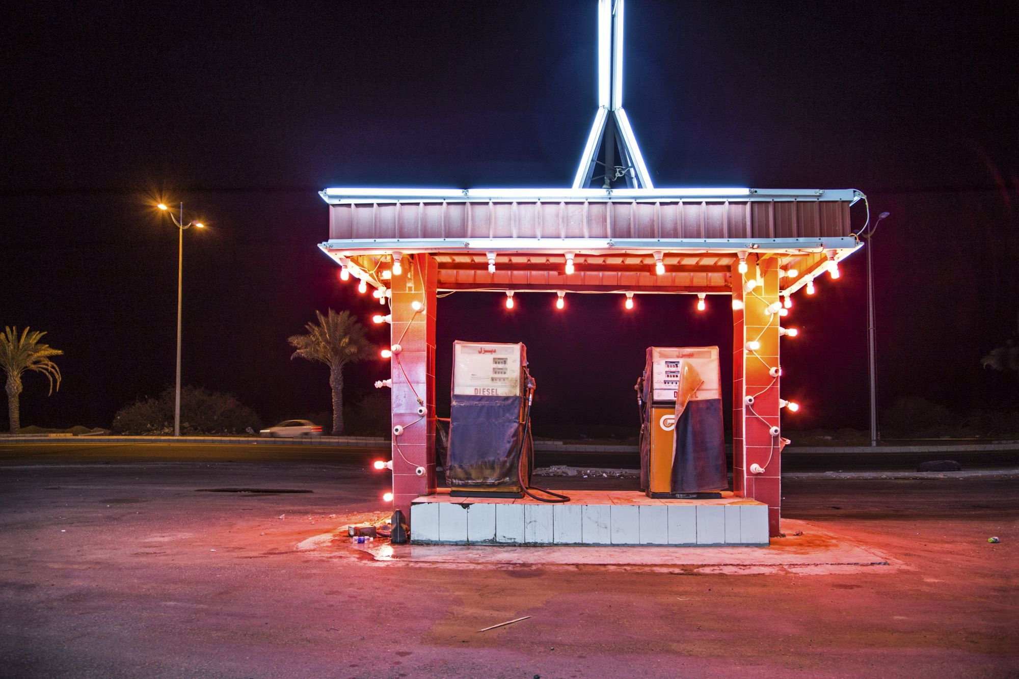 Ahmed Mater (Saudi, born 1979). Gas Station Leadlight, 2013. C-print, 60 x 90 in. (152.4 x 228.6 cm). Courtesy of the artist and GALLERIA CONTINUA, San Gimignano / Beijing / Les Moulins / Habana. © Ahmed Mater