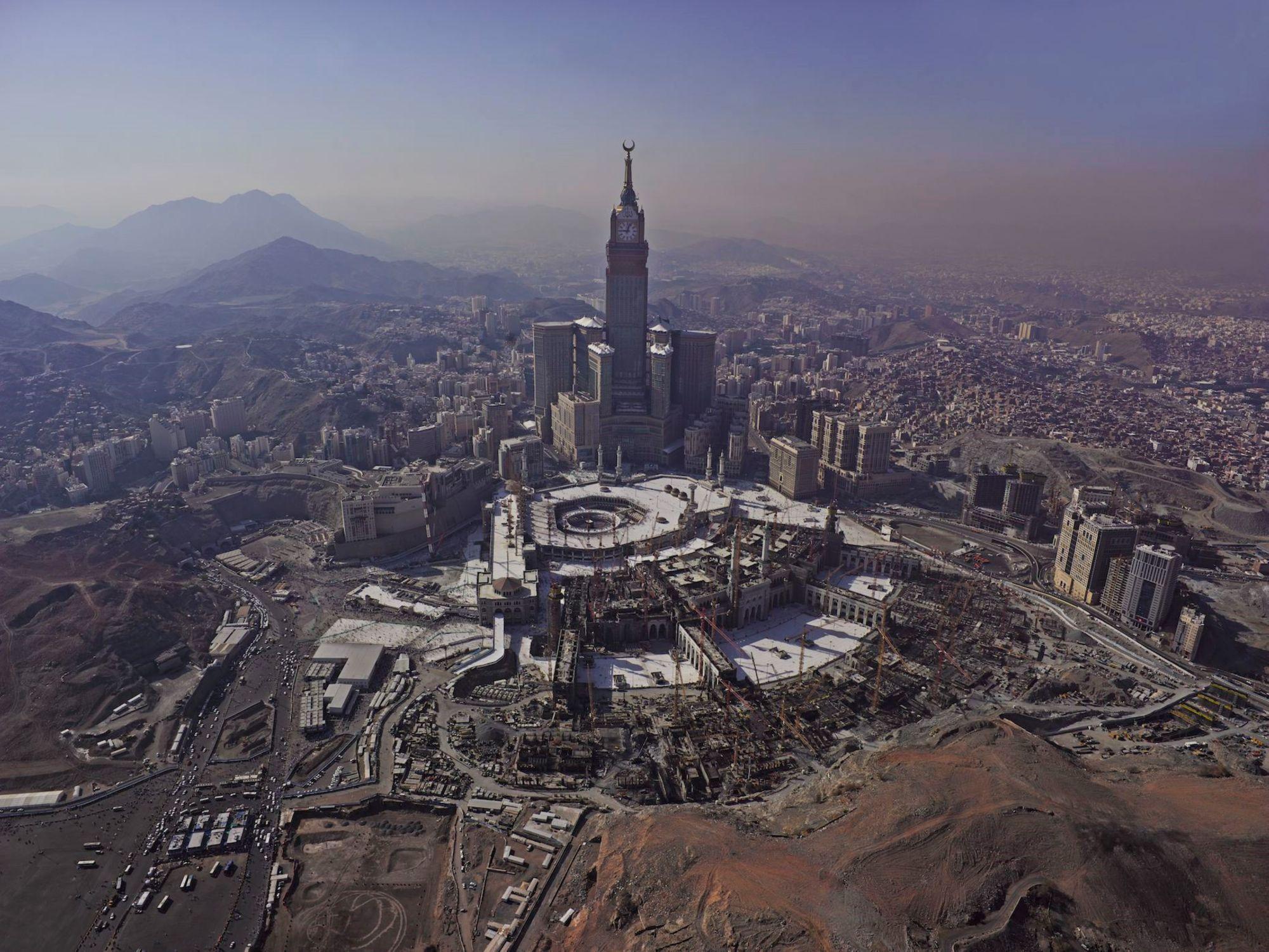 Ahmed Mater (Saudi, born 1979). Metropolis, 2013. Diasec mounted Latex jet print on Kodak Premier Paper, 118 x 88 ½ in. (300 x 225 cm). Courtesy of the artist. © Ahmed Mater