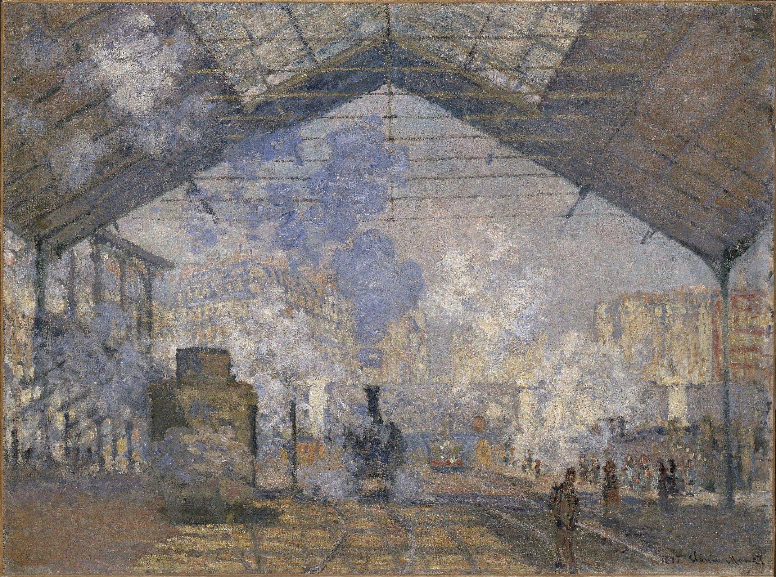 The Saint-Lazare Station, Claude Monet (1840-1926),France, 1877. 75.5 x 104 cm.Oil on canvas.© Musée d'Orsay, dist. RMN-Grand Palais / Patrice Schmidt