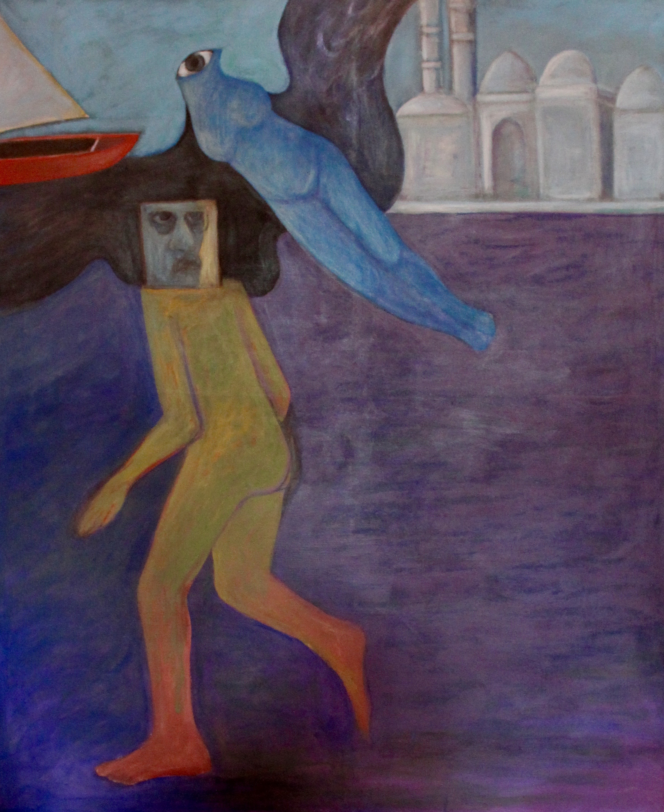 Ahmed Morsi, Artist in Alexandria, 1989, image courtesy of the artist and Gypsum Gallery.