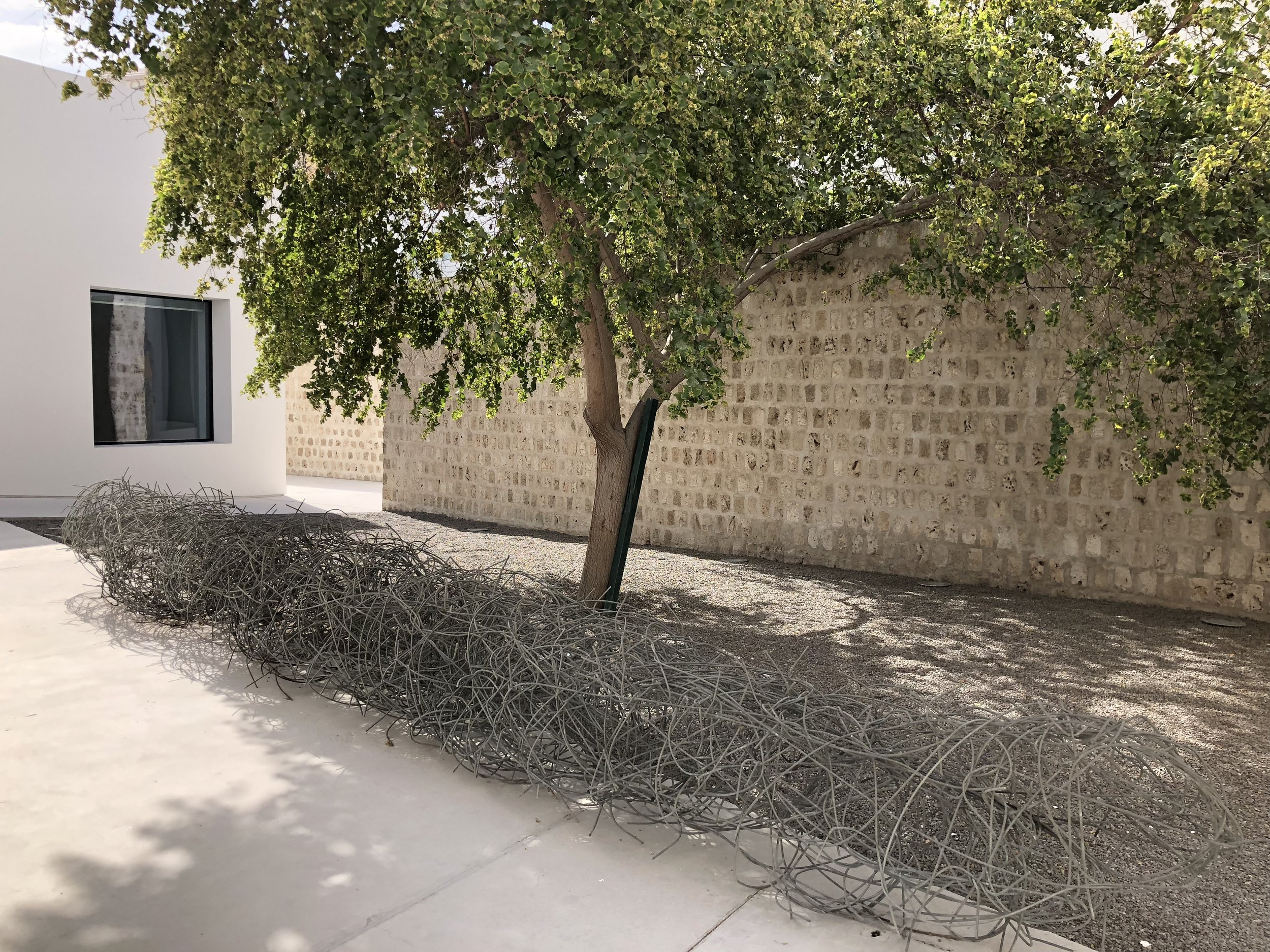 Another of Sharif's large public installations inside the Sharjah Art Foundation spaces.