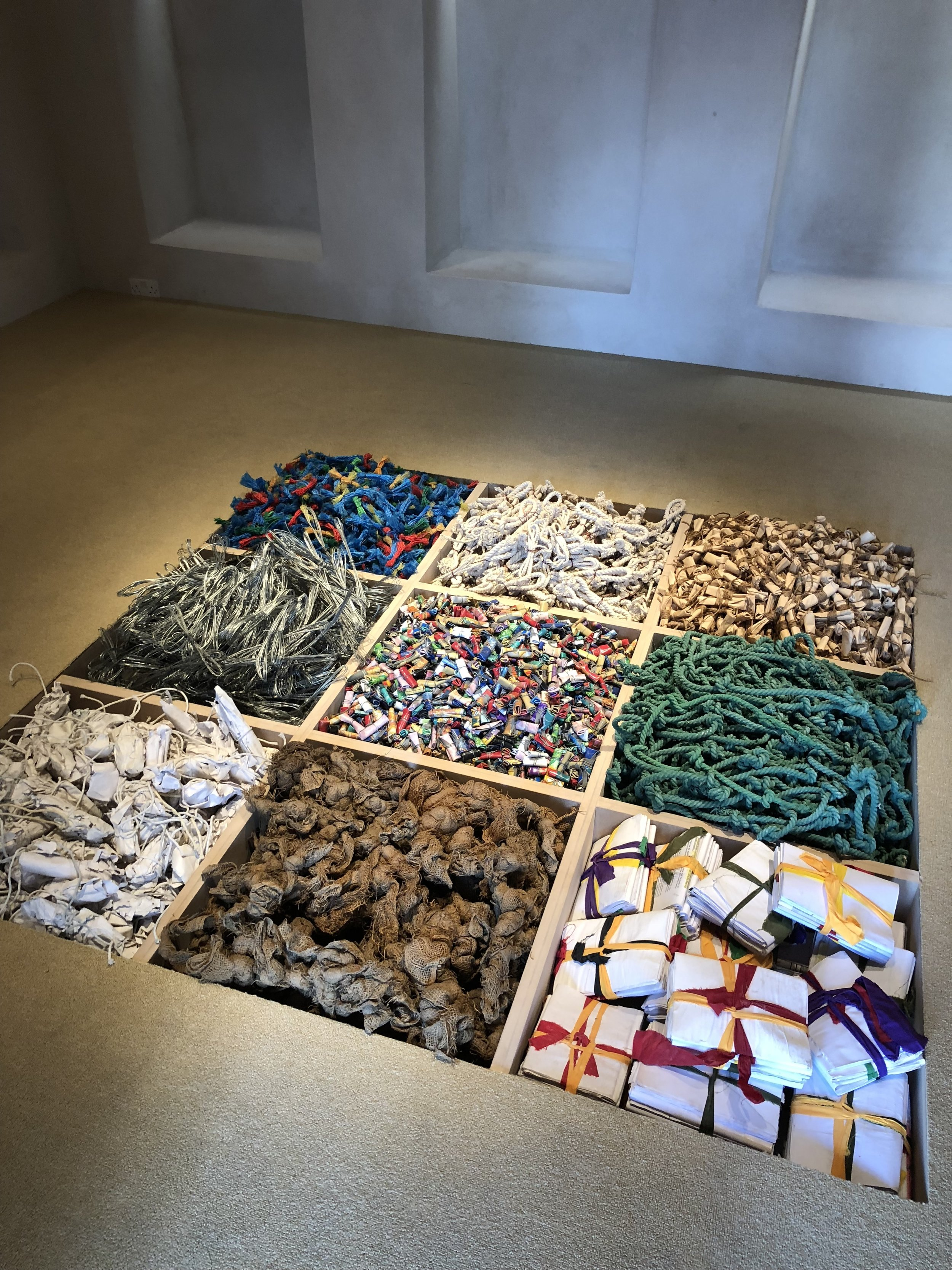 Compartmentalised items from Sharif's vast oeuvre display how he was attracted to the sheer volume of things that we fill our lives with