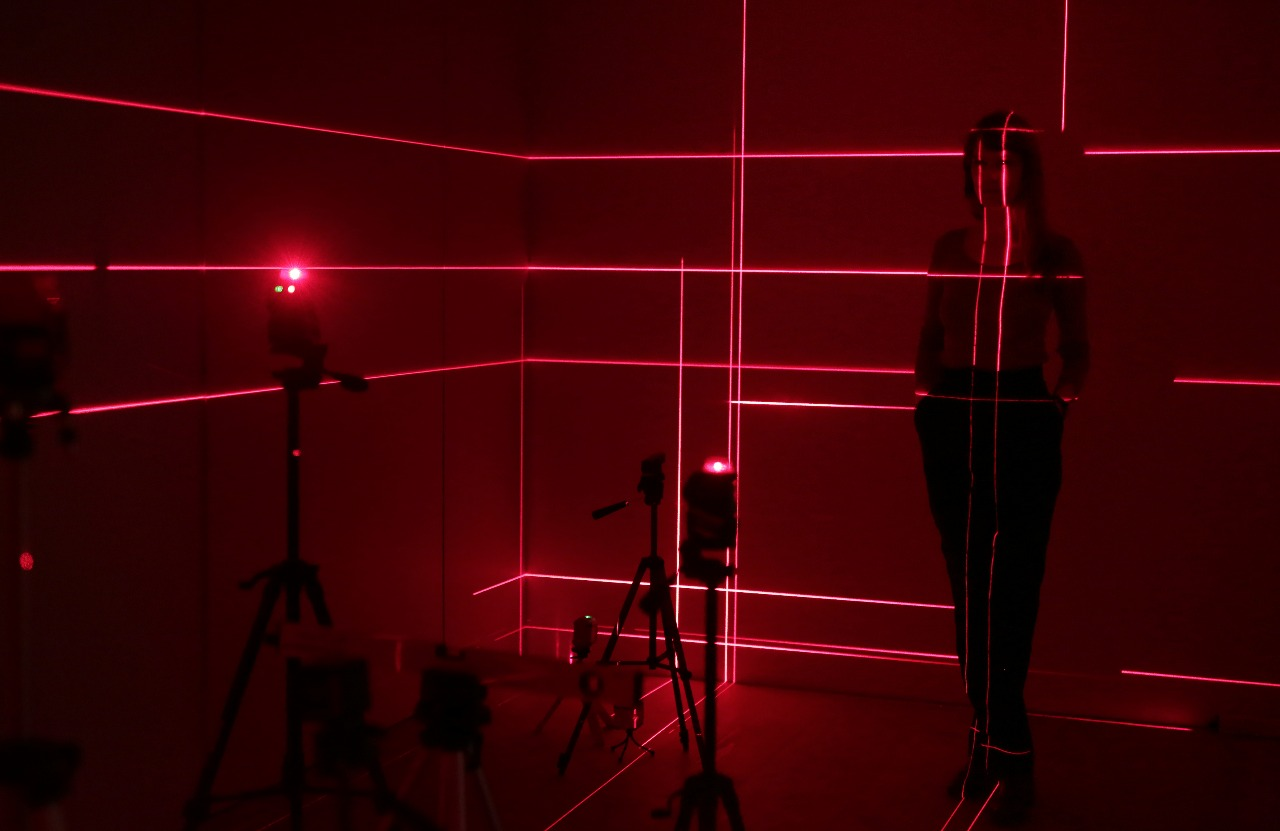 Zuza Golińska.Dead End / Future Twice. A laser installation that won first prize in the ArtePrize 2017. Image courtesy of ArteVue Ltd.