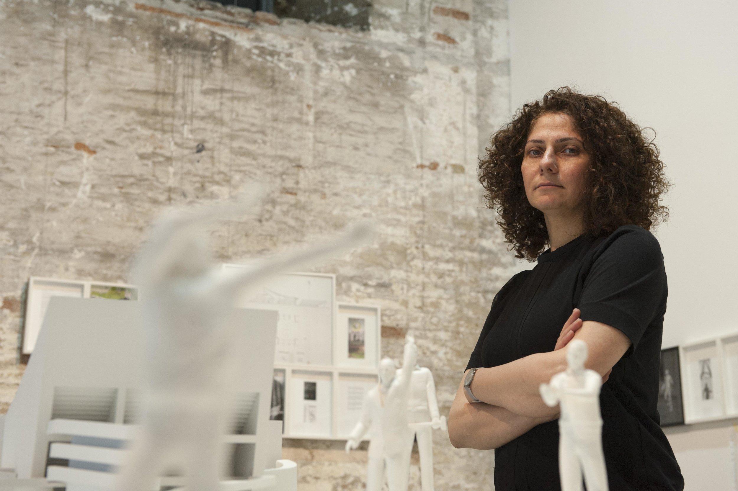 Ala Younis at 56th Venice Biennale. Photo Isabella Balena. Courtesy la Biennale di Venezia.