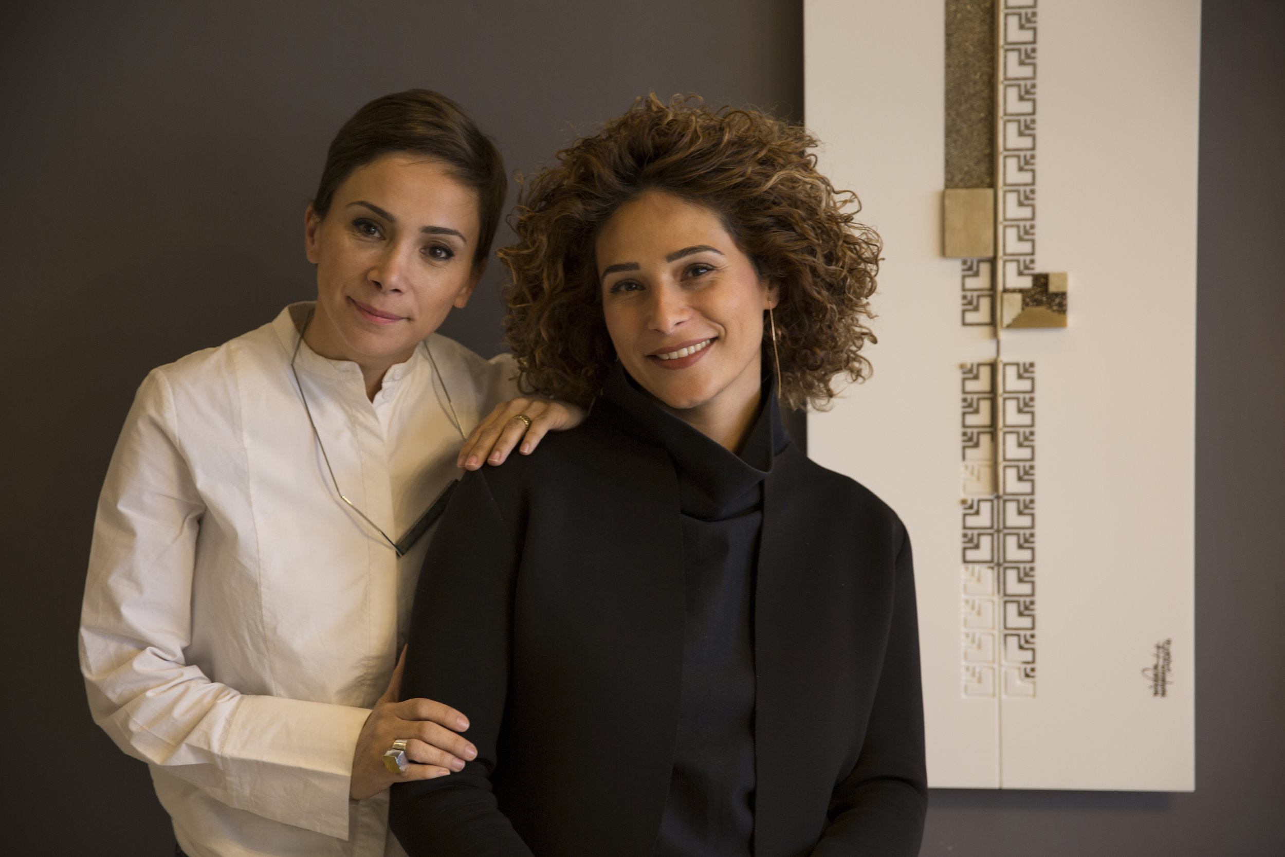 (L-R) Nisreen and Nermeen Abudail, the sister duo who make up naqsh collective have been nominated for the fifth edition of the Jameel Prize. Image courtesy of the artists.
