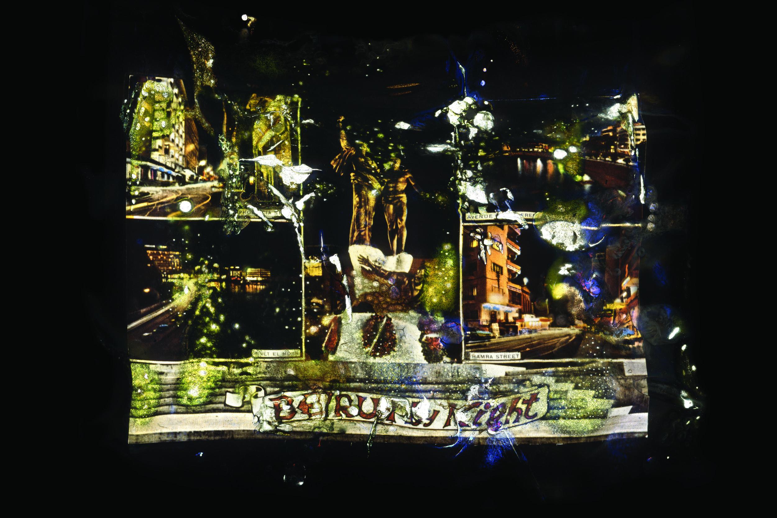 Joana Hadjithomas & Khalil Joreige, Wonder Beirut #20 (Beirut By Night), 1998 - 2006. Photographic print mounted on aluminium and diasec, 70 x 105 cm.Courtesy of the artists & In Situ - Fabienne Leclerc