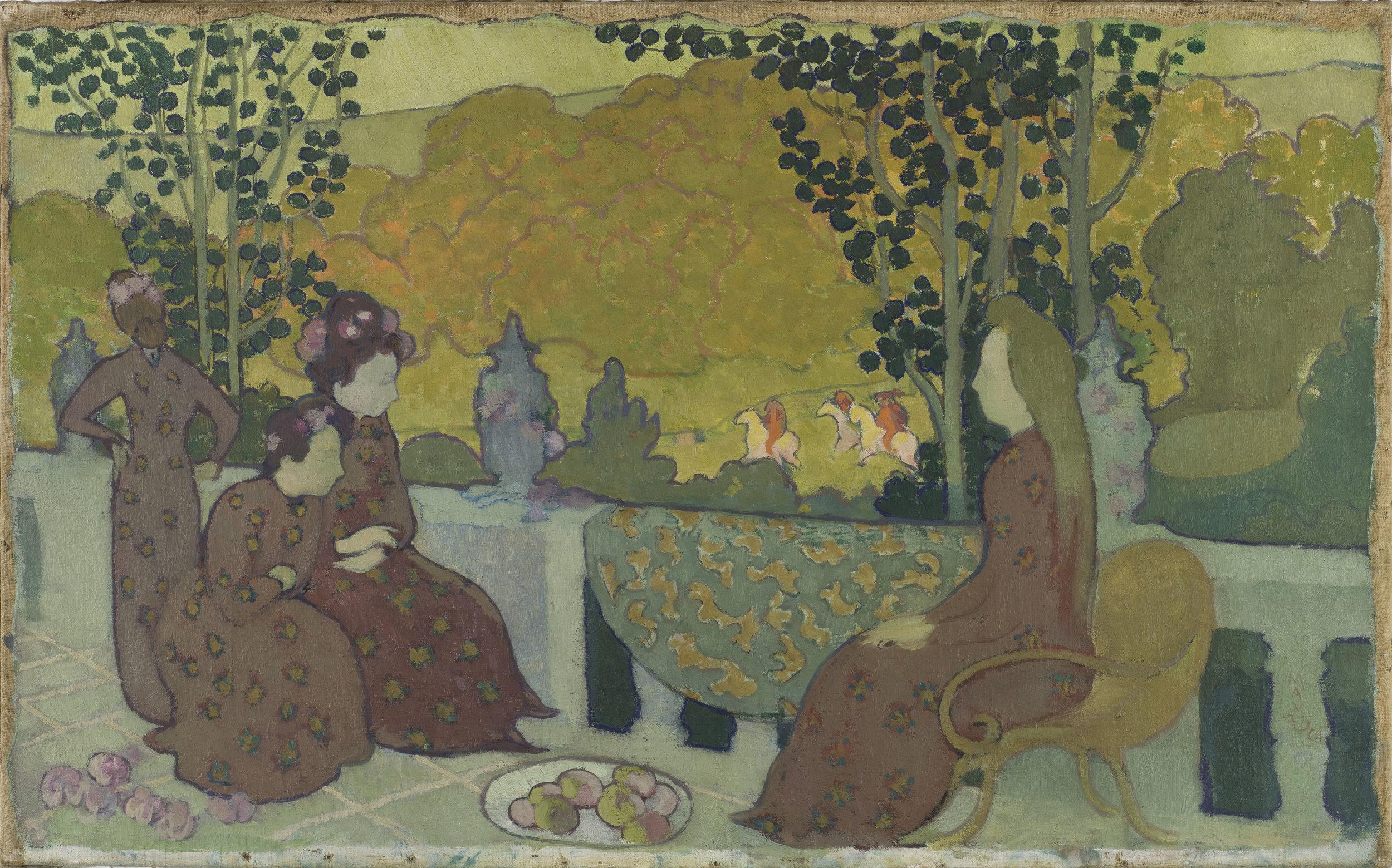 Maurice Denis (1870-1943).October, also known as October Evening, 1891. Oil on canvas.Musée d'Orsay, Paris.Photo © RMN-Grand Palais (musée d'Orsay) / Hervé Lewandowski.
