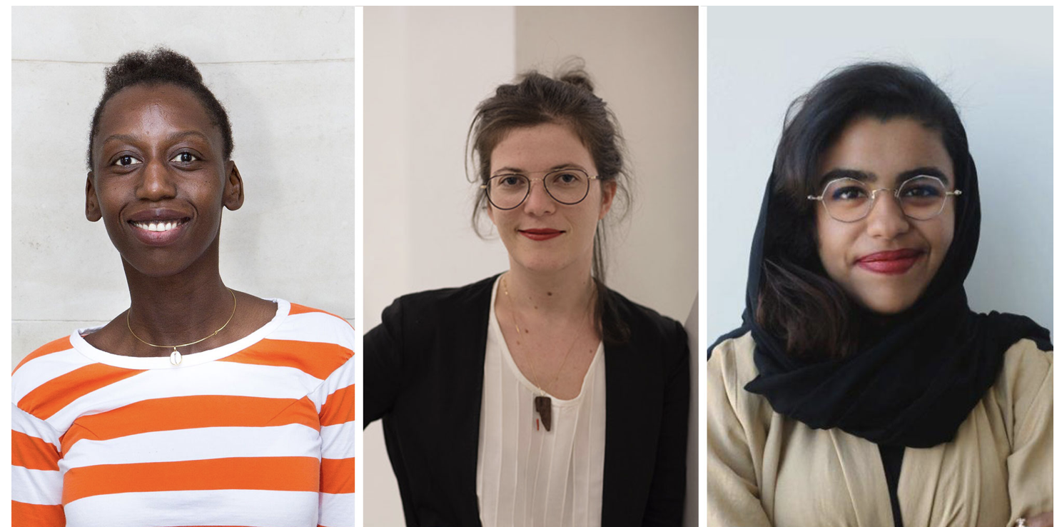 From left to right: Elise Atangana, (Photo: Eva Bartussek), Fernanda Brenner (Photo: Everton Ballardin) and Munira Al Sayegh.