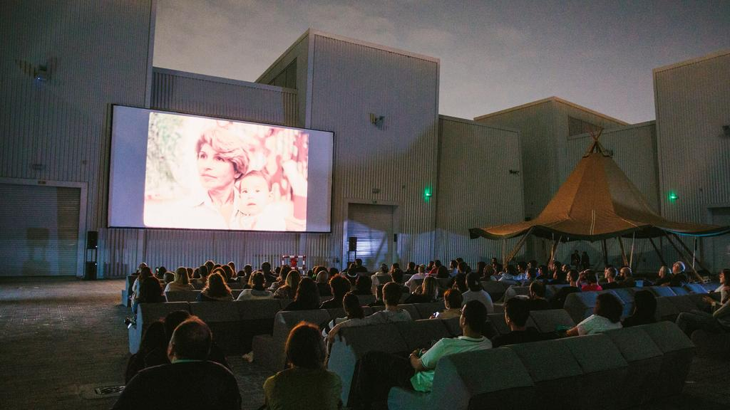 A screening of Monir earlier this year by Cinema Akil at Quoz Arts Festival, Alserkal Avenue. Image taken from The National newspaper.