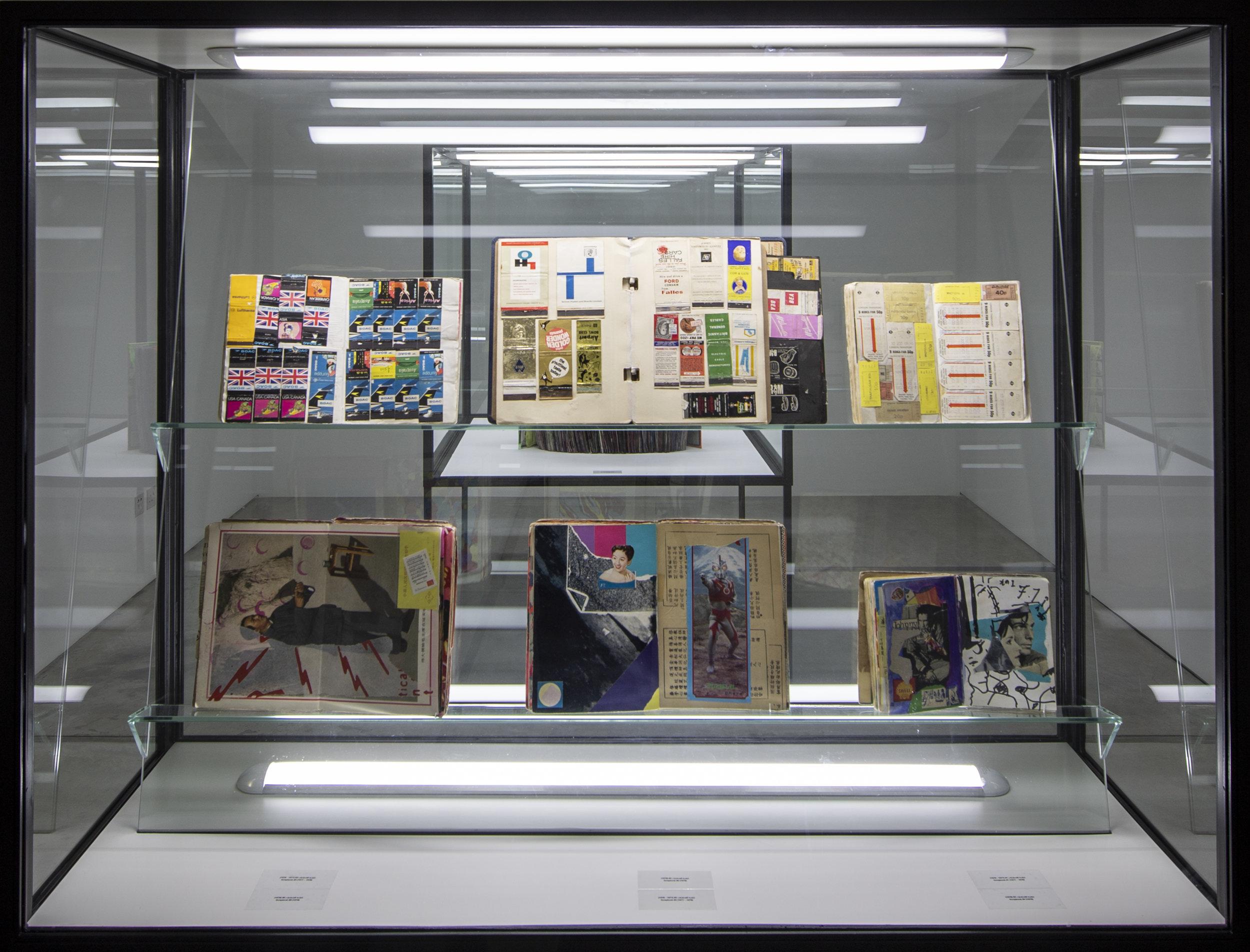 Installation view of Shinro Ohtake's work, Al Hamriyah Studios, Sharjah Art Foundation, 2018. Mixed Media Installation, dimensions variable. Image courtesy of Sharjah Art Foundation