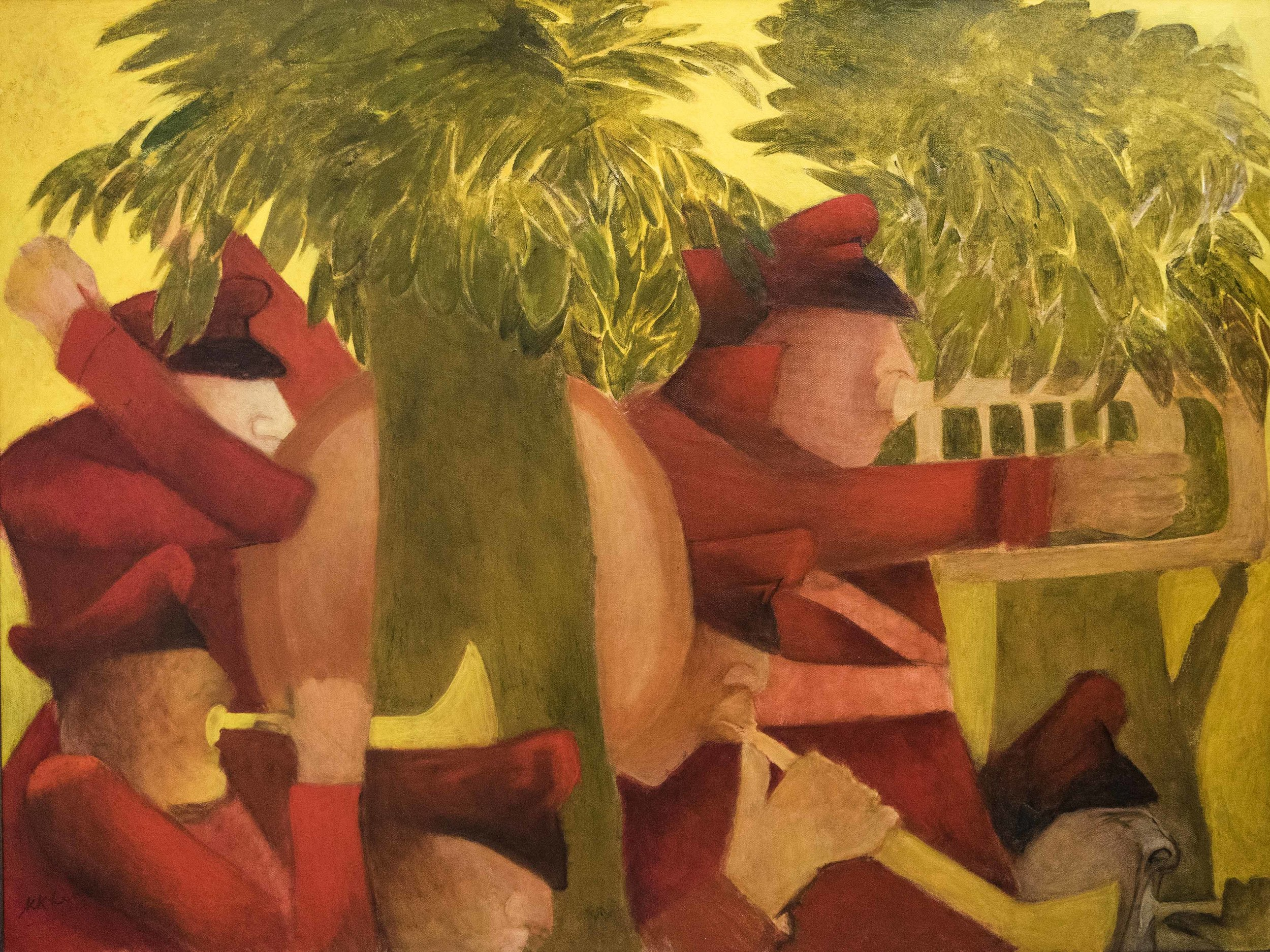 Krishen Khanna, Woodland Melody. Courtesy of Dhoomimal Art Gallery, India's oldest art gallery and now somewhat of an institution.