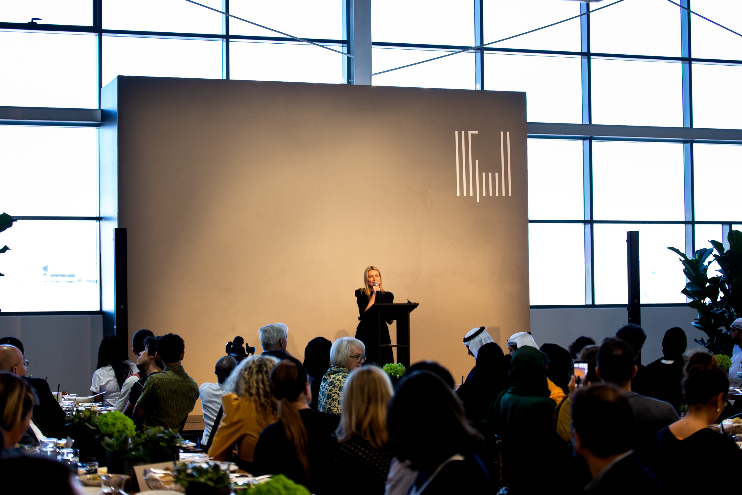 Vilma Jurkute at the Alserkal Arts Foundation announcement. Photo credit Tara Atkinson.