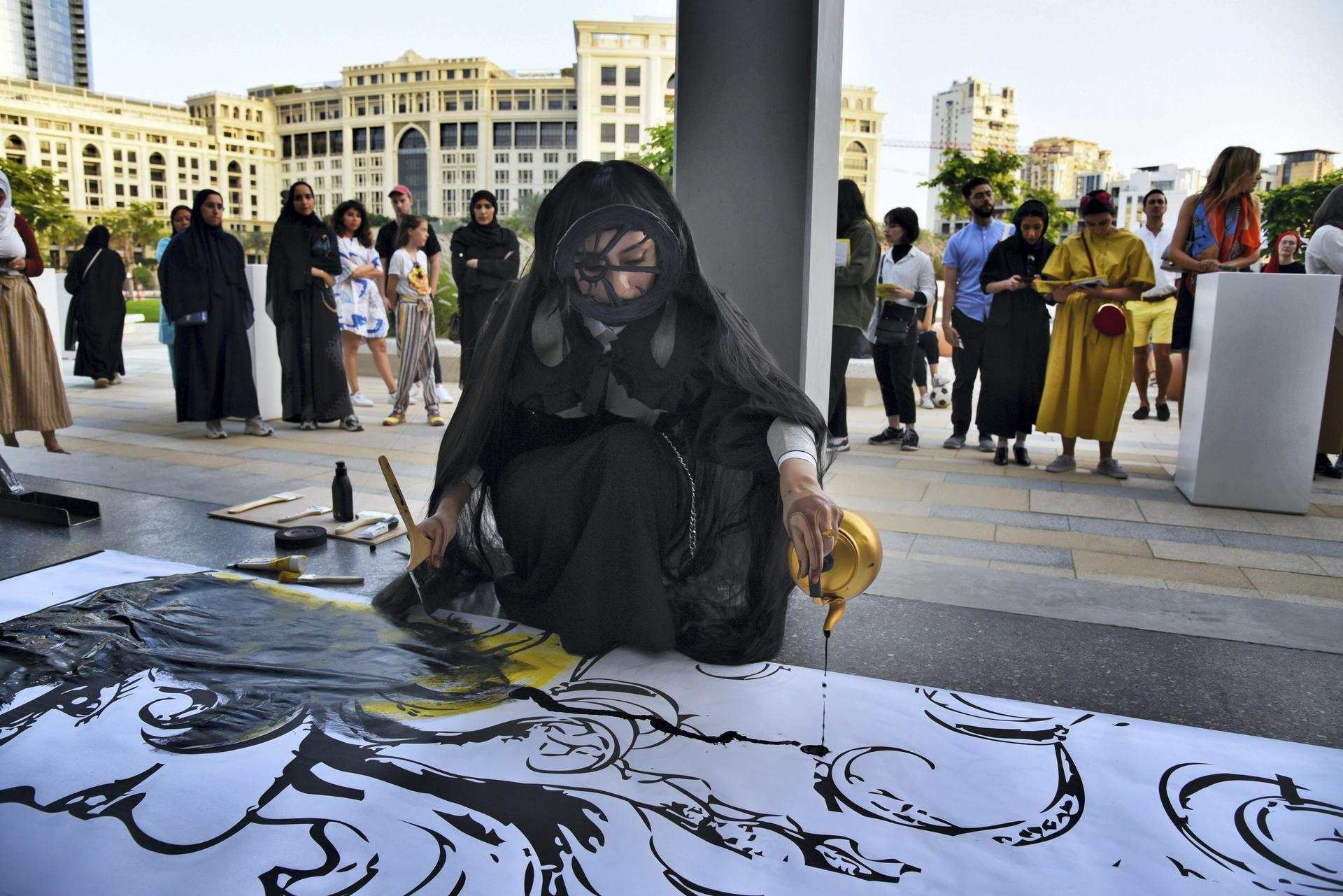 Shaikha Al Ketbi gave a one-off performance during the event. Photo credit Shruti Jan for The National.