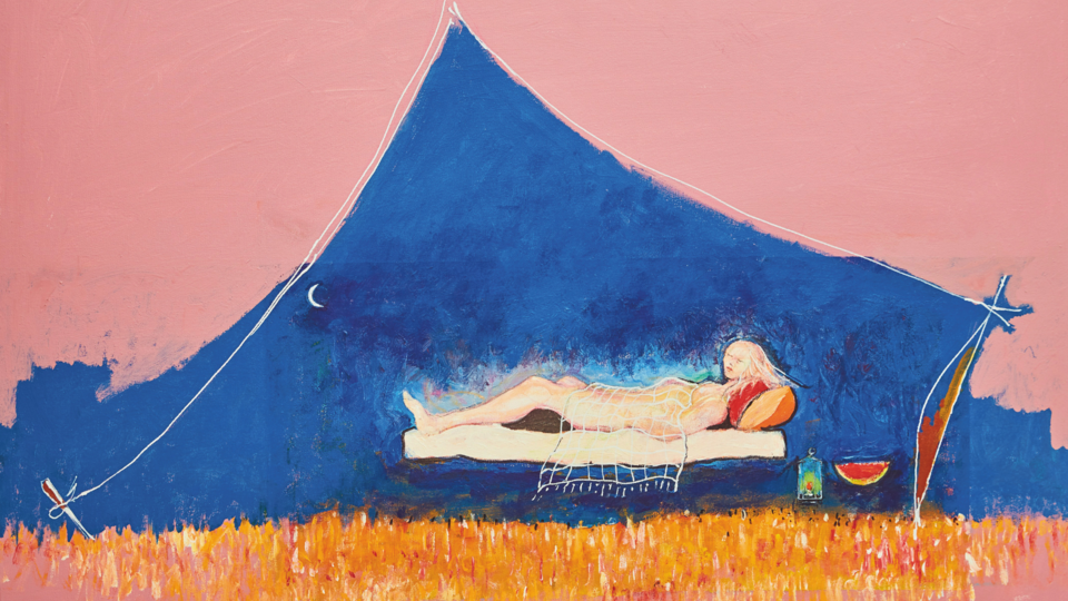 Heitham Adjina, 'Siesta Dreams', 2015, Acrylic on canvas. Courtesy of the artist and Showcase Gallery.