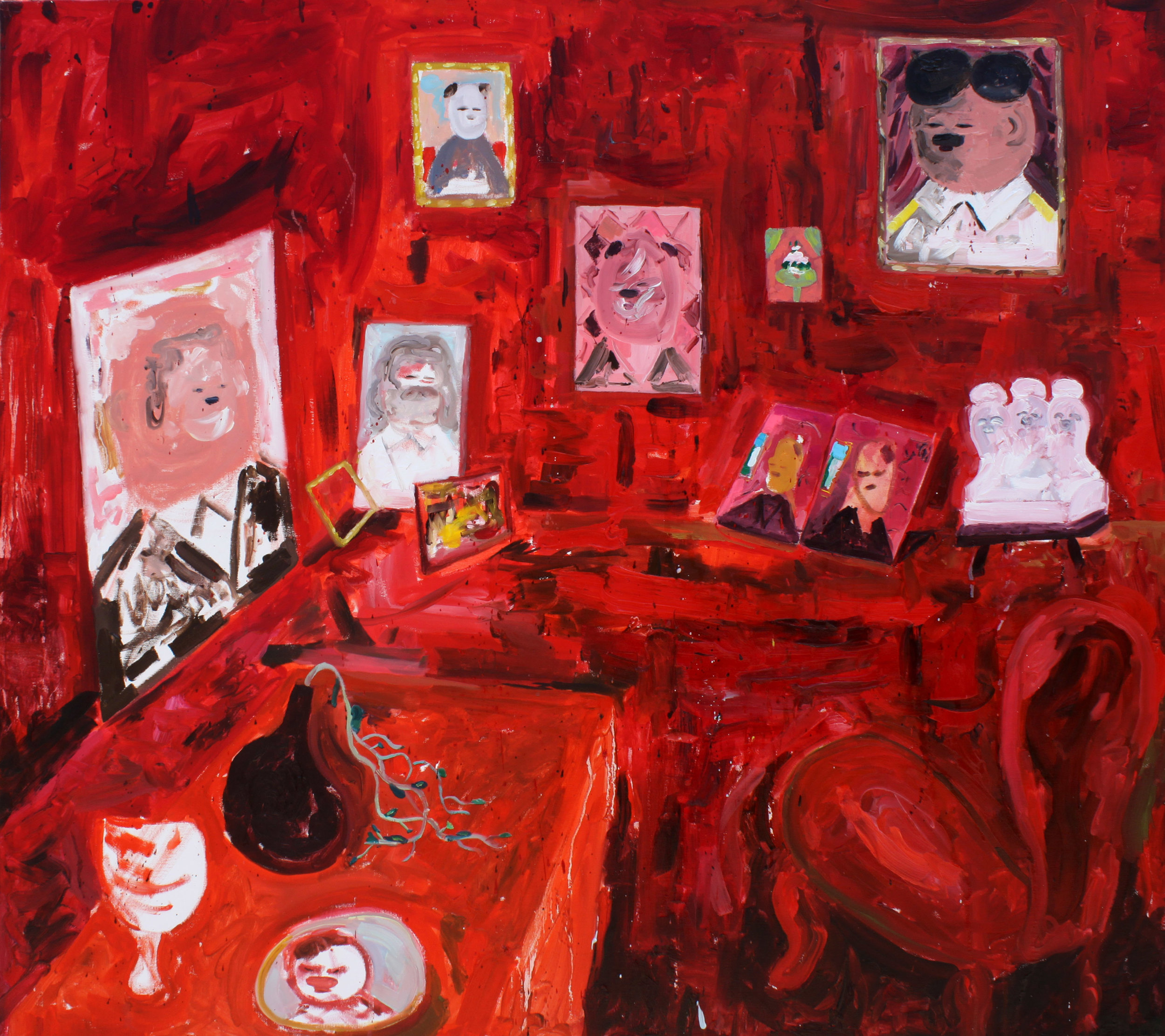 Amir Khojasteh Red Room, 2018 Oil on canvas 90 x 80 cm. Courtesy of the artist and Carbon 12