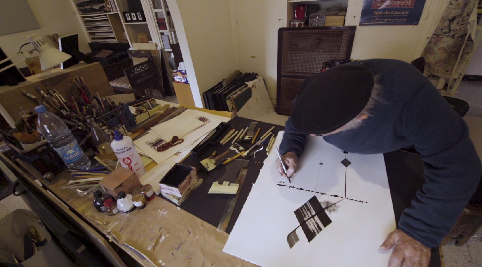 Samir Sayegh in his Beirut studio. Courtesy of Art Dubai