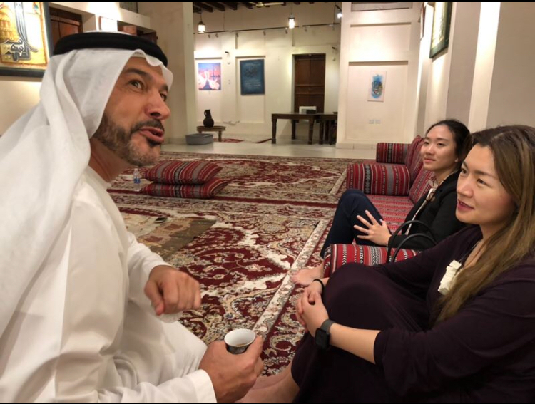 Nasif Kayed sharing coffee and insights with guests. Courtesy The Arab Culturalist.