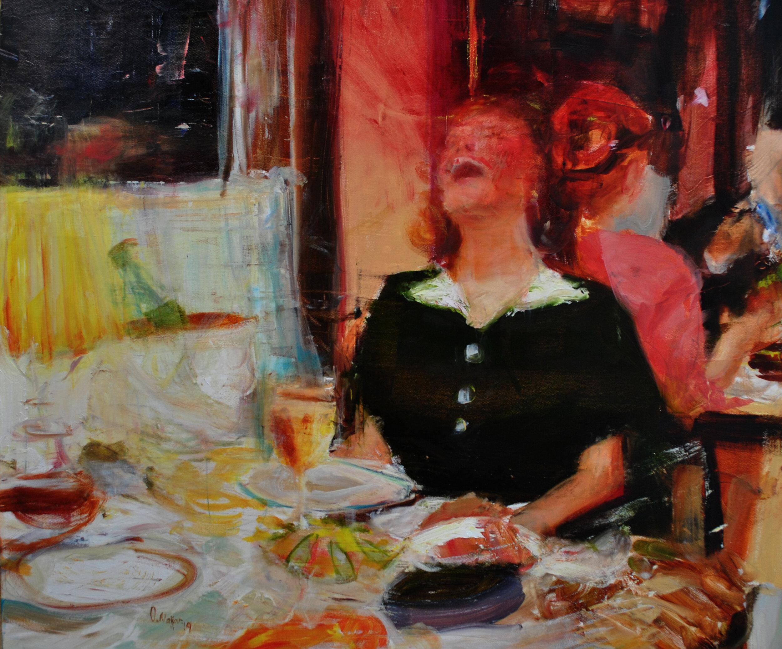 Omar Najjar, Untitled. 2018, oil on canvas, 75 x 90 cm. Courtesy of the artist.