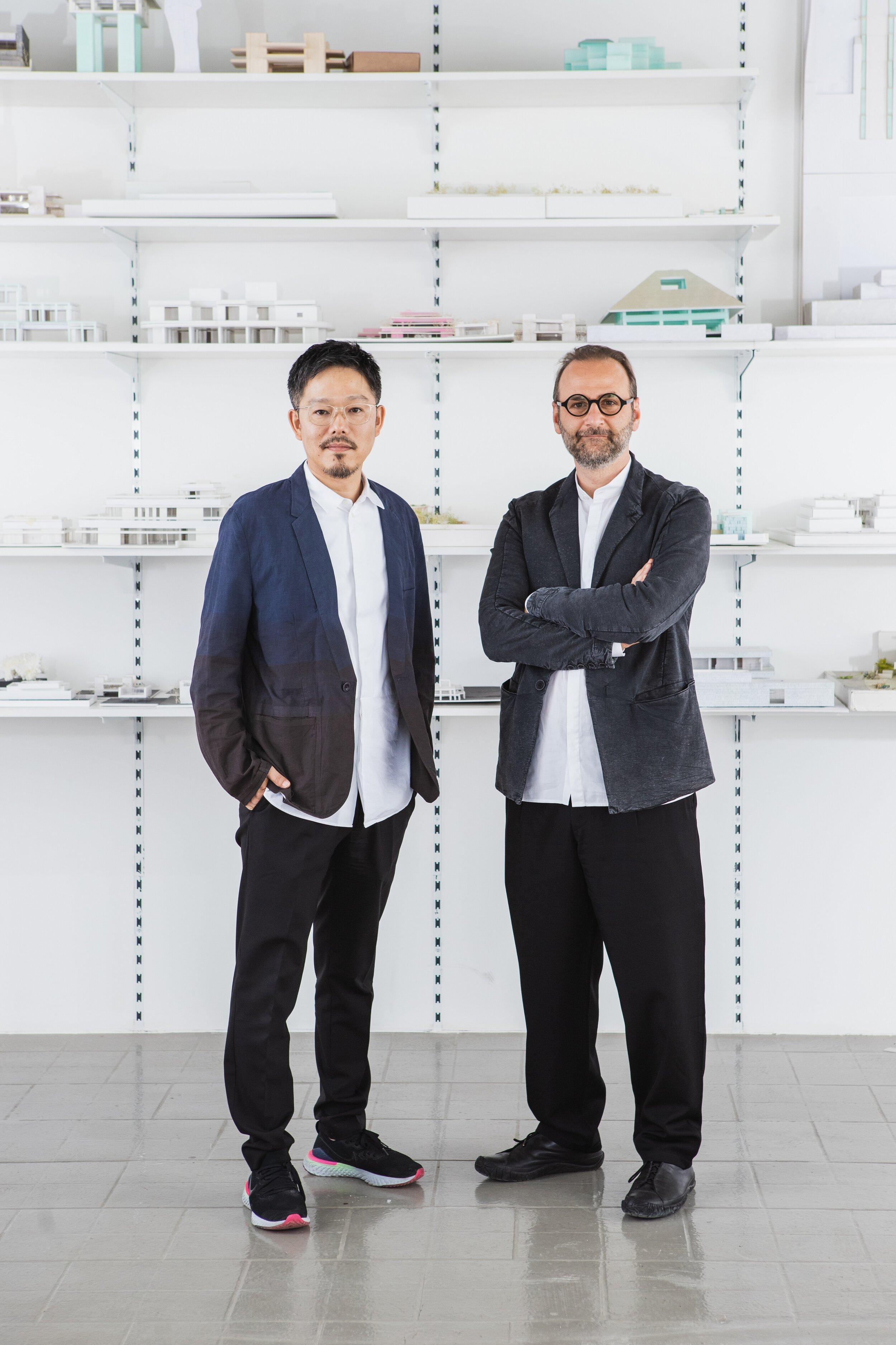 Wael Al Awar and Kenichi Teramoto. Image courtesy of National Pavilion UAE - La Biennale di Venezia.