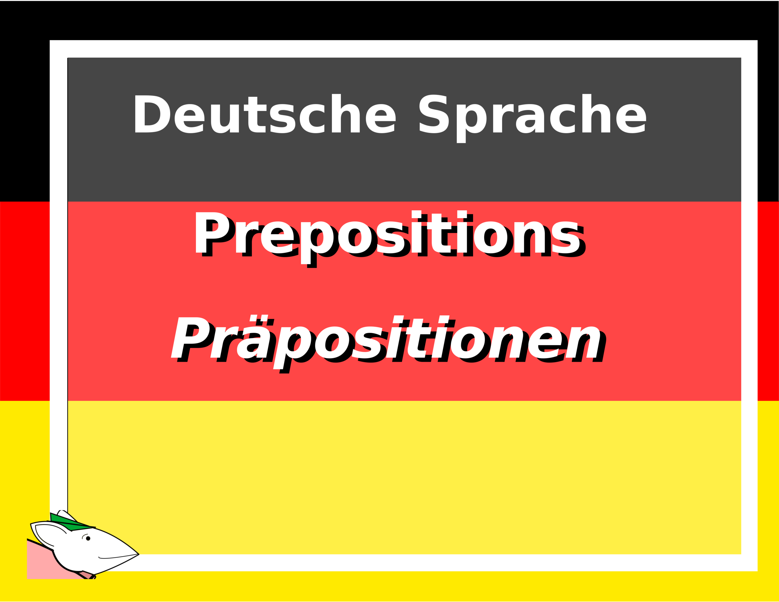 German Language Case Specific Prepositions