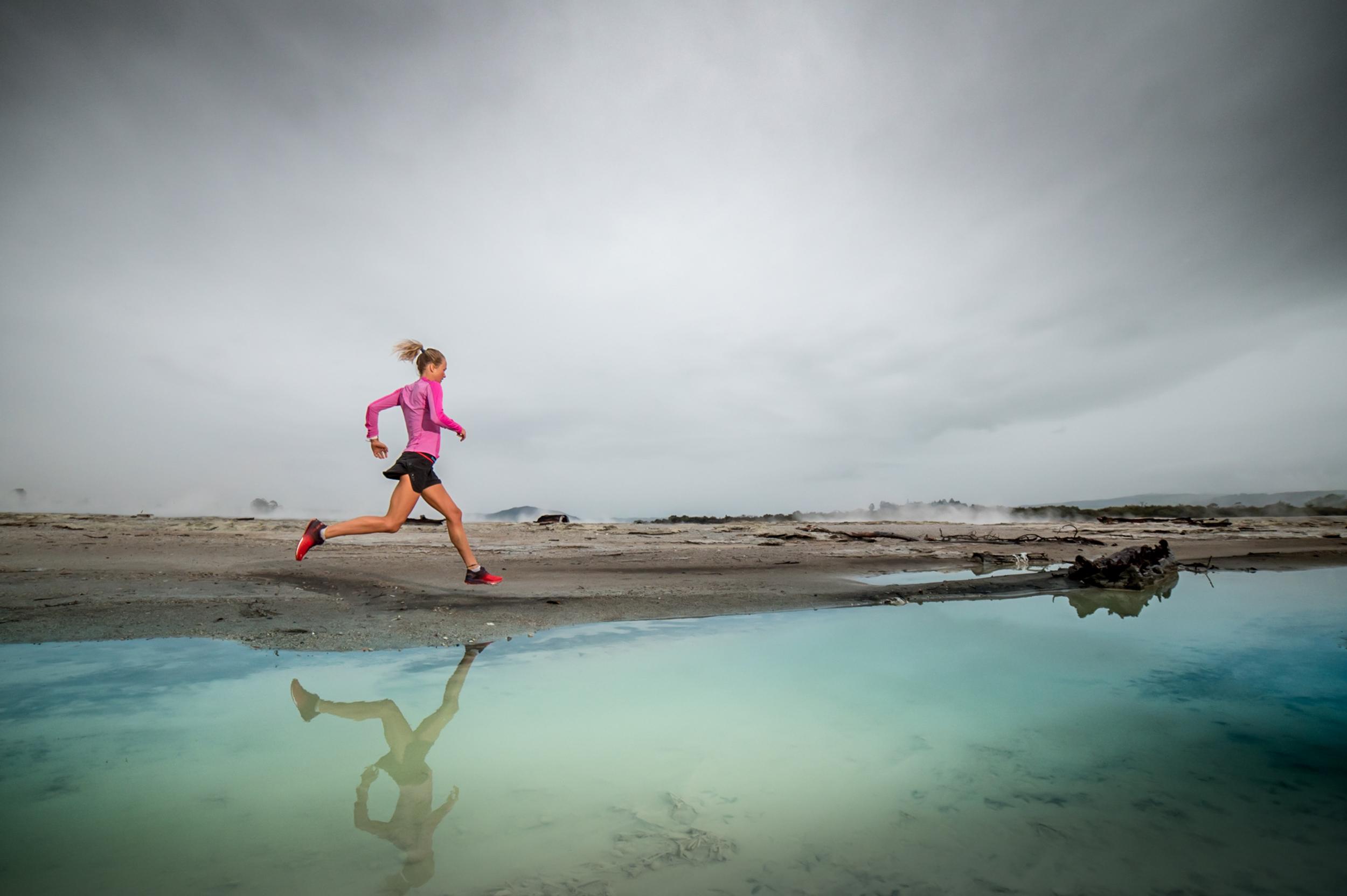 Elite runner Lucy Bartholomew in Rotorua NZ